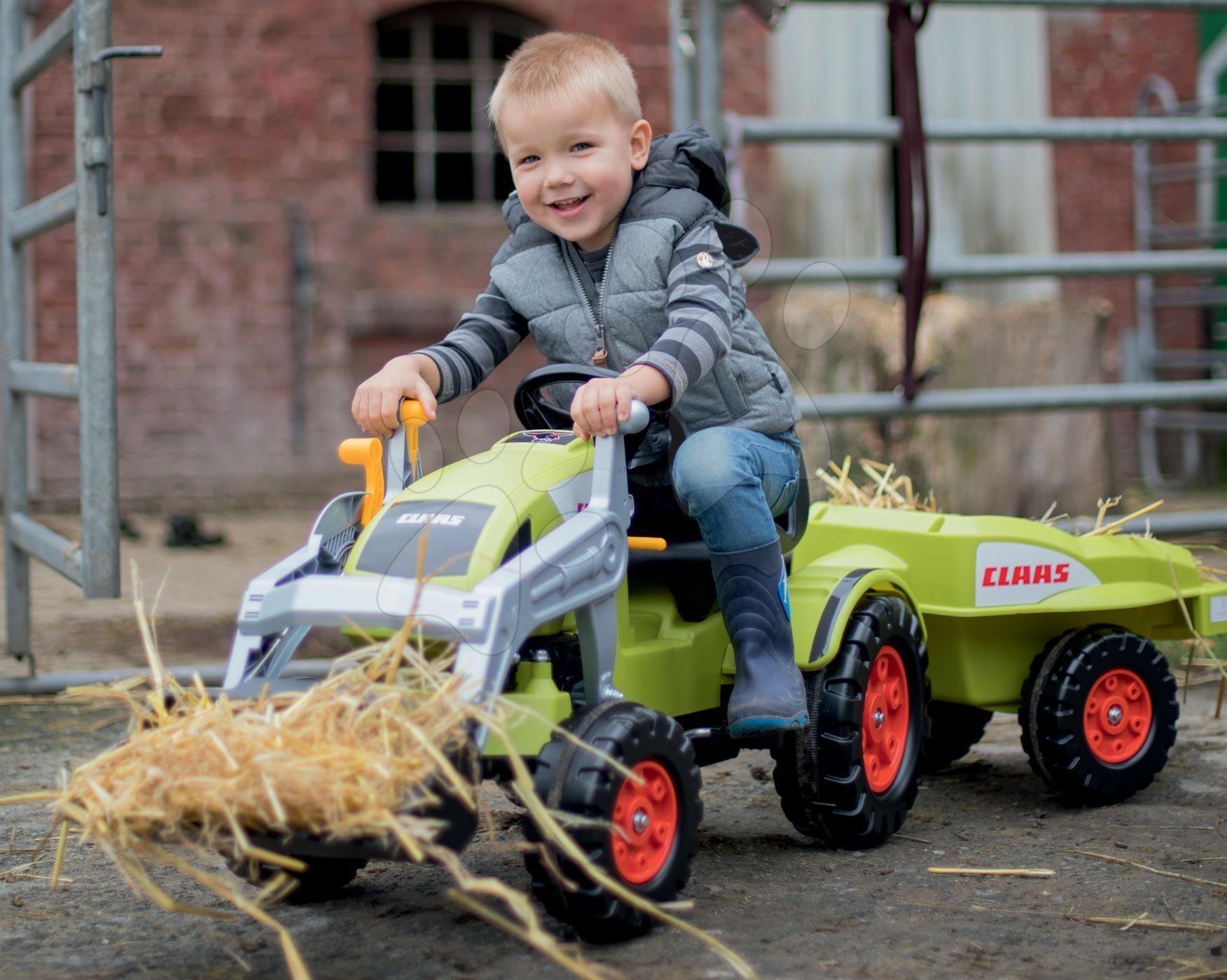 Šlapací traktor s vlečkou BIG Claas Celtis