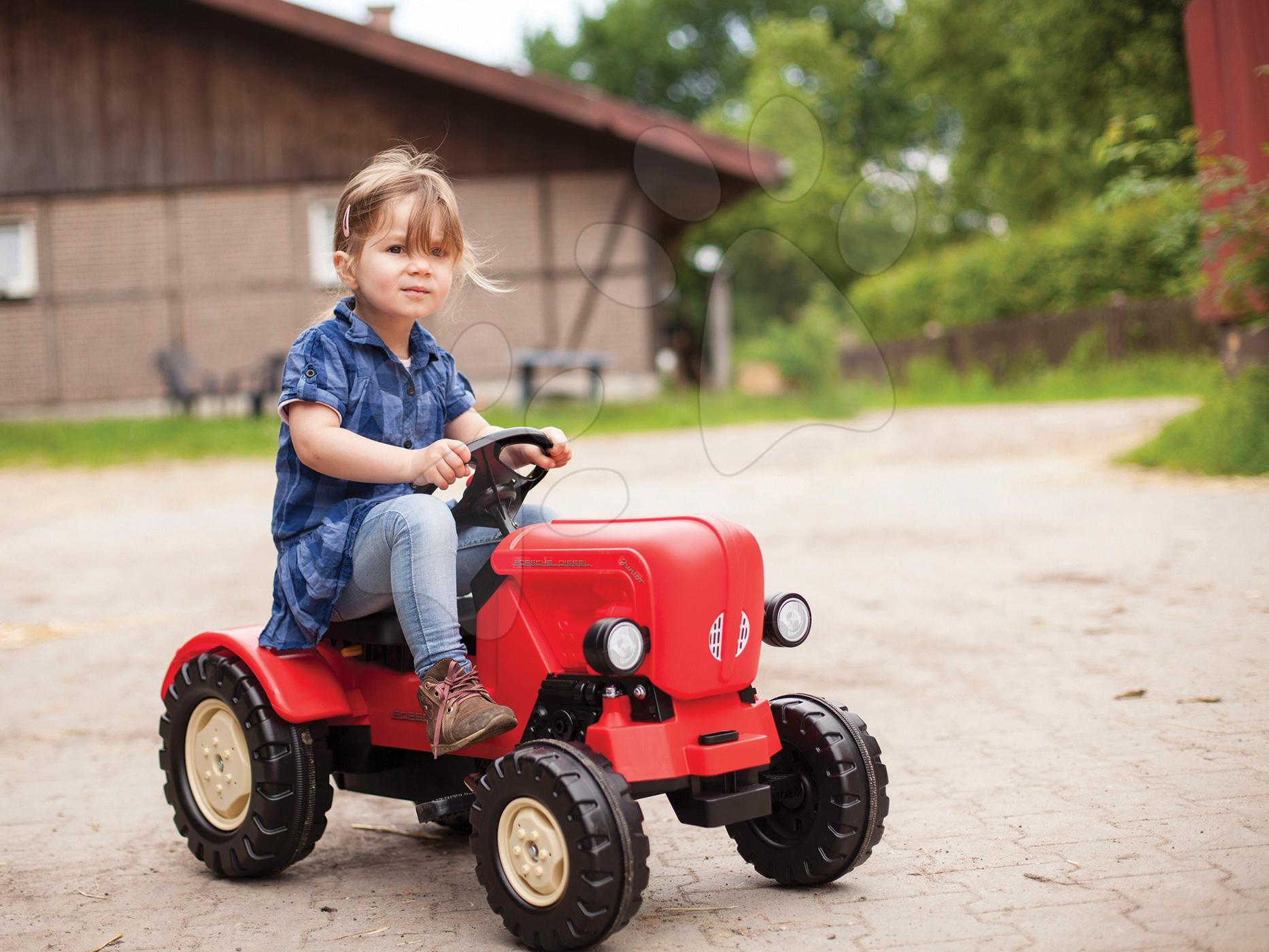 Dětský traktor BIG Porsche Diesel Junior červený