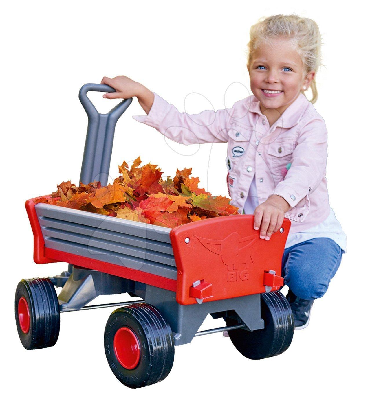 Vozík na tahání Peppy Handwagen BIG s otočnými kolečky a odnímatelnými řídítky