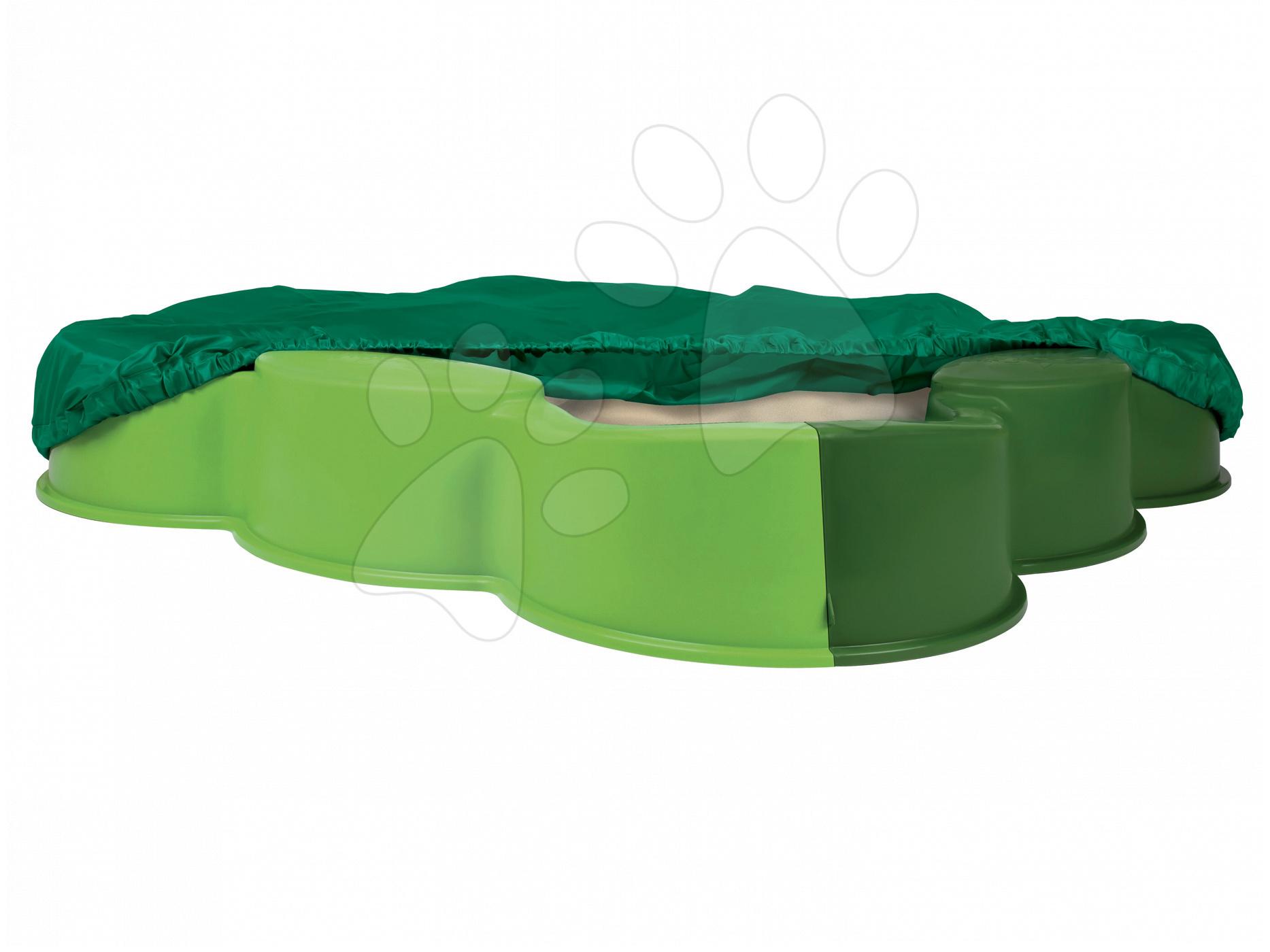 Pískoviště Vario BIG čtyřlístek s plachtou 112*112 cm zelené od 12 měsíců