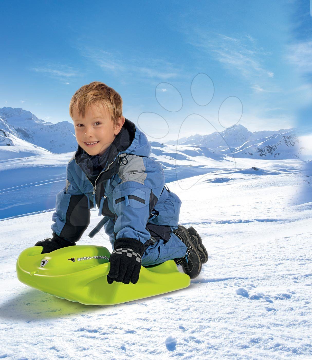 Boby - Boby Snow Speedy BIG s úchytkami robustné zelené od 6 rokov