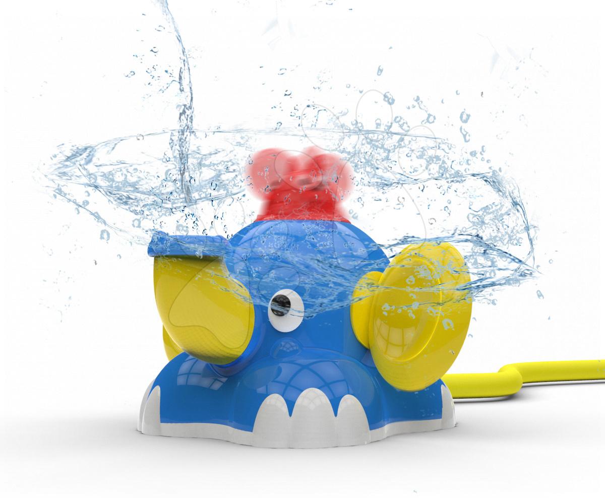 Striekajúci vodný slon Aquafant BIG s rotujúcou myškou a napojením na hadicu s dostrekom 2 m od 12 mes
