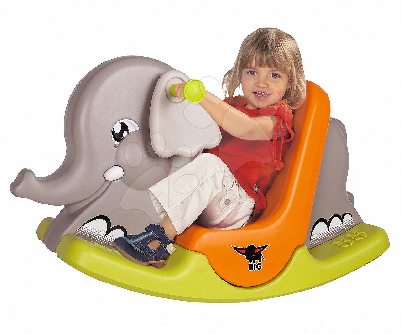 Hojdačky - Hojdačka Slon BIG s pohyblivými ušami od 12 mes