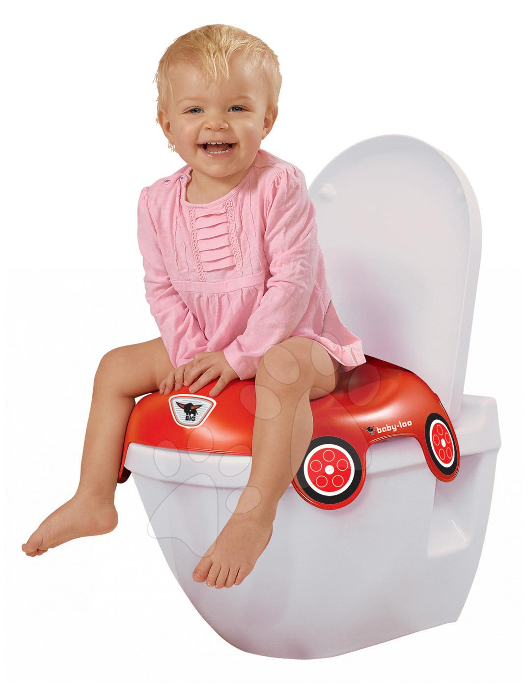 Nočníky a redukcie na toaletu - Redukcia na toaletu autíčko BIG červená od 18 mesiacov