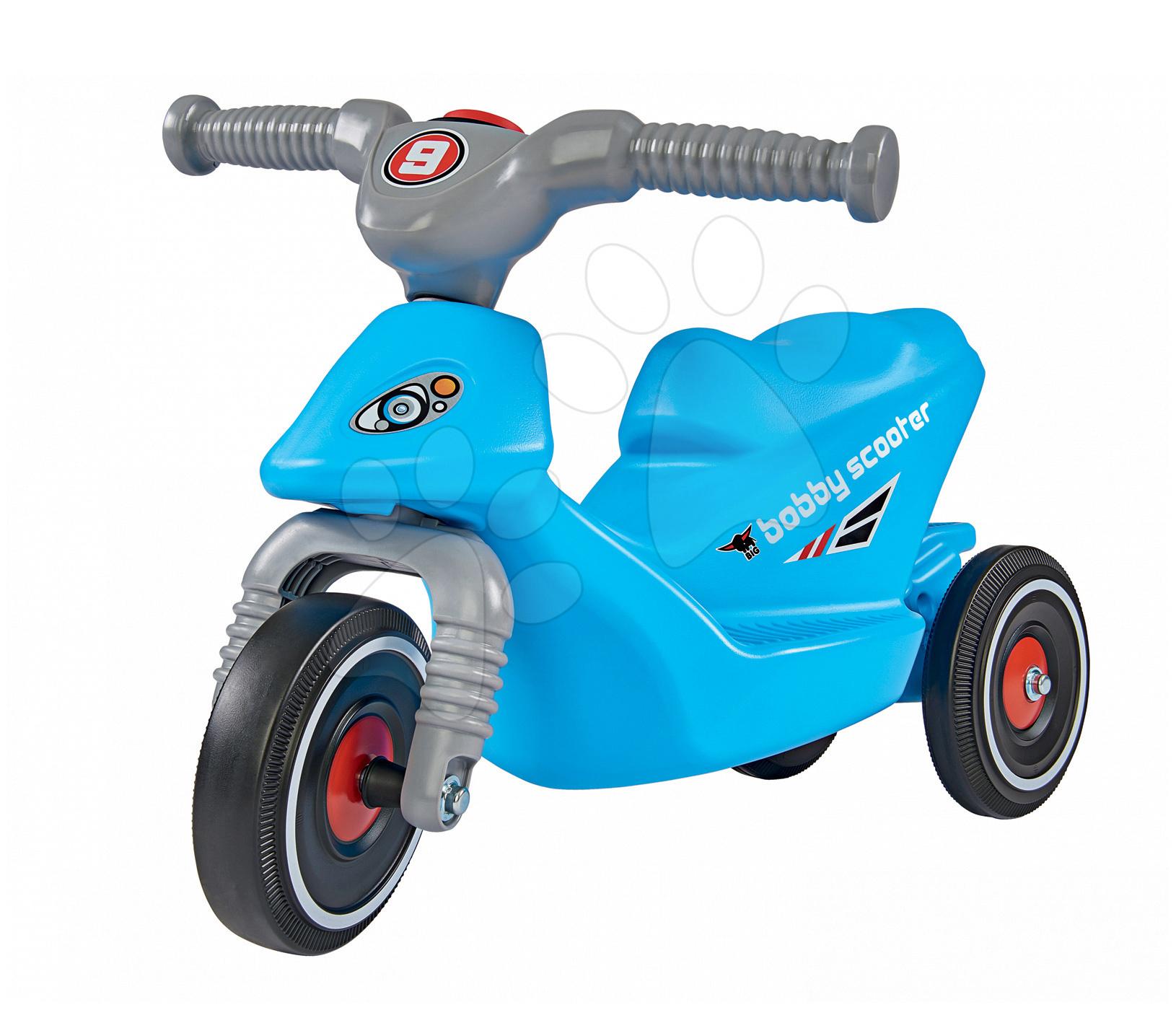 Odrážedlo skútr Bobby BIG s klaksonem tříkolové modré od 18 měsíců