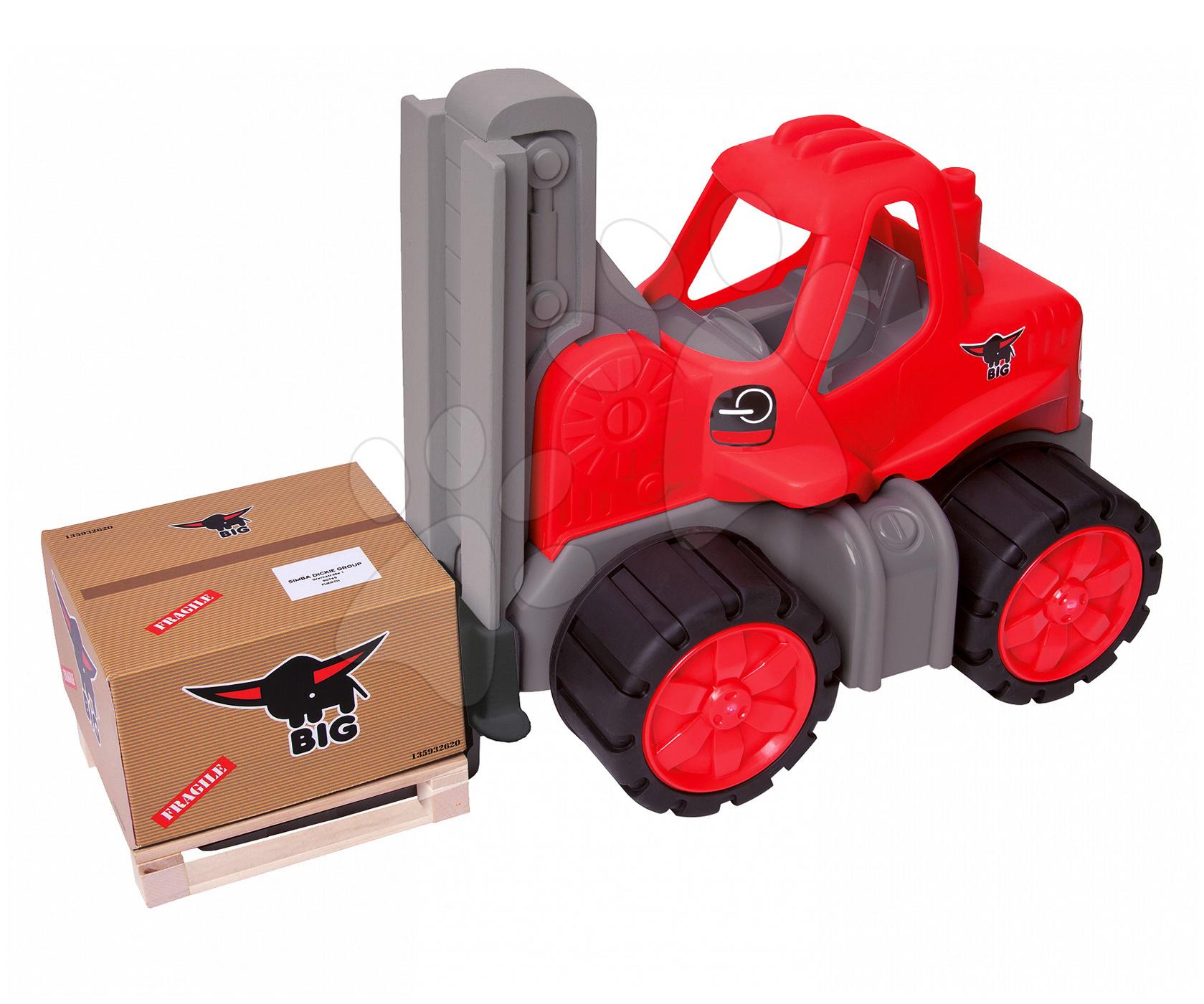Stavebné stroje - Vysokozdvižný vozík Power BIG veľký dĺžka 42 cm červený od 24 mes