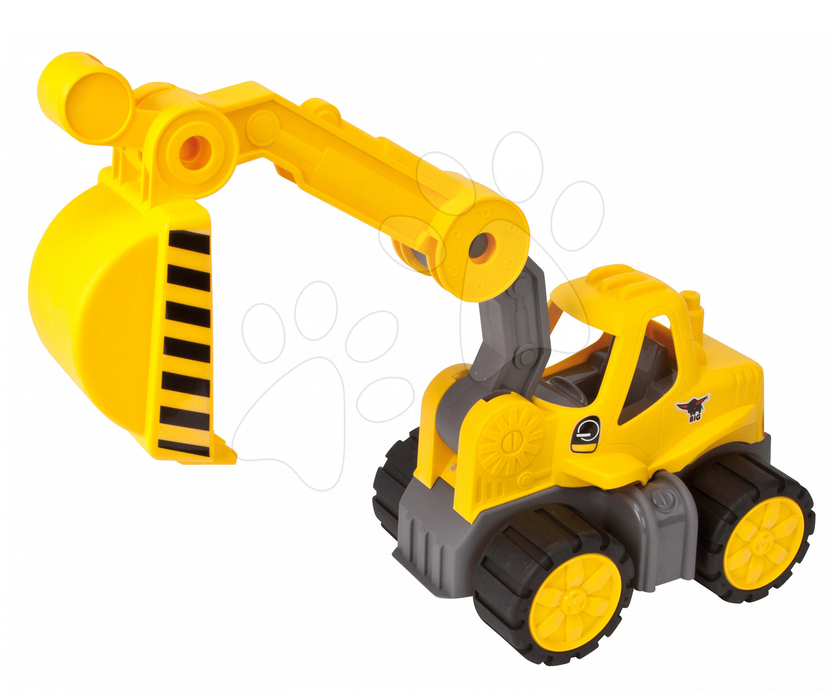 Stavebné stroje - Bager Power BIG veľký pracovný stroj dĺžka 67 cm žltý od 24 mes