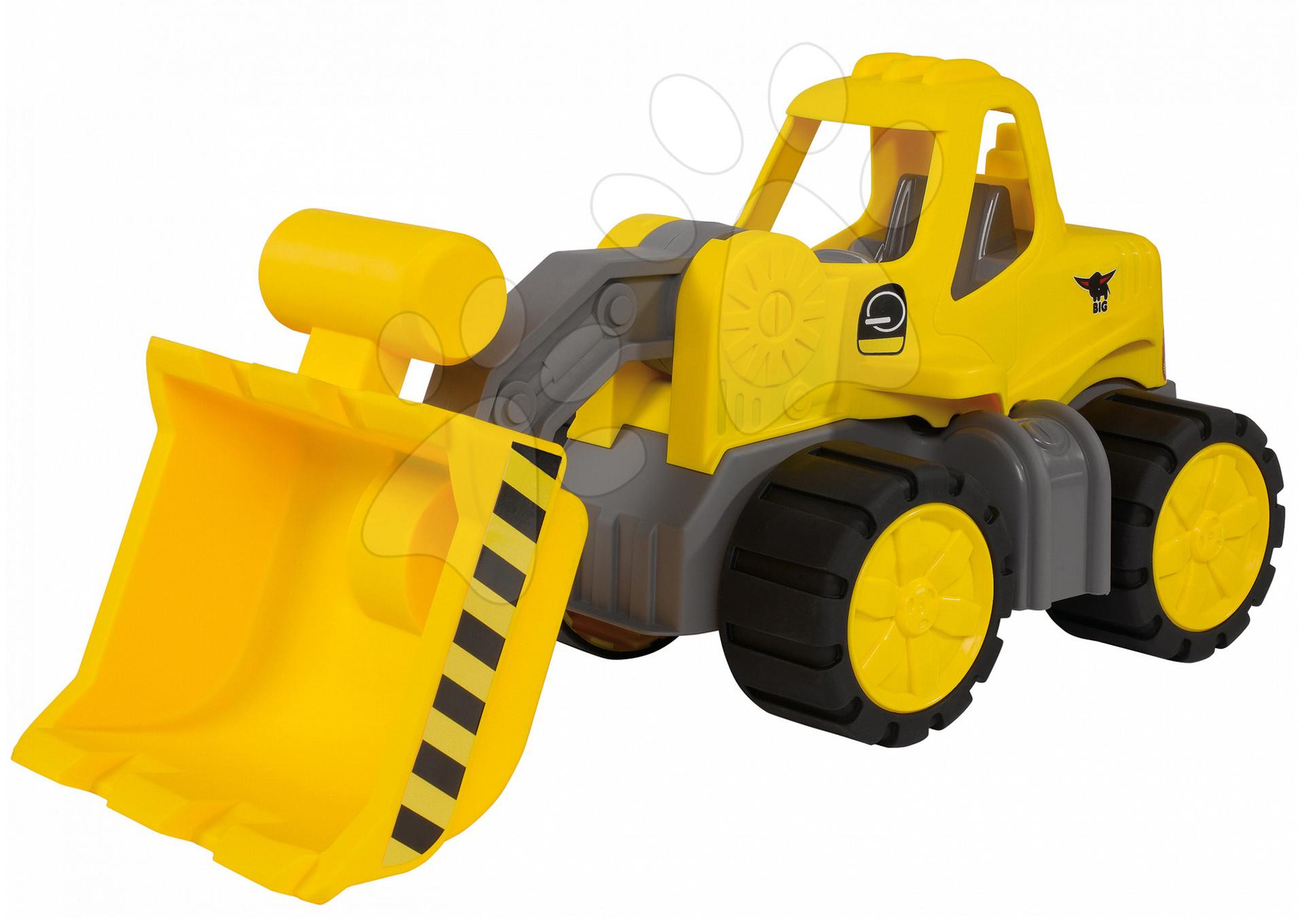 Stavebné stroje - Nakladač Power BIG pracovný stroj dĺžka 47 cm žltý od 24 mes