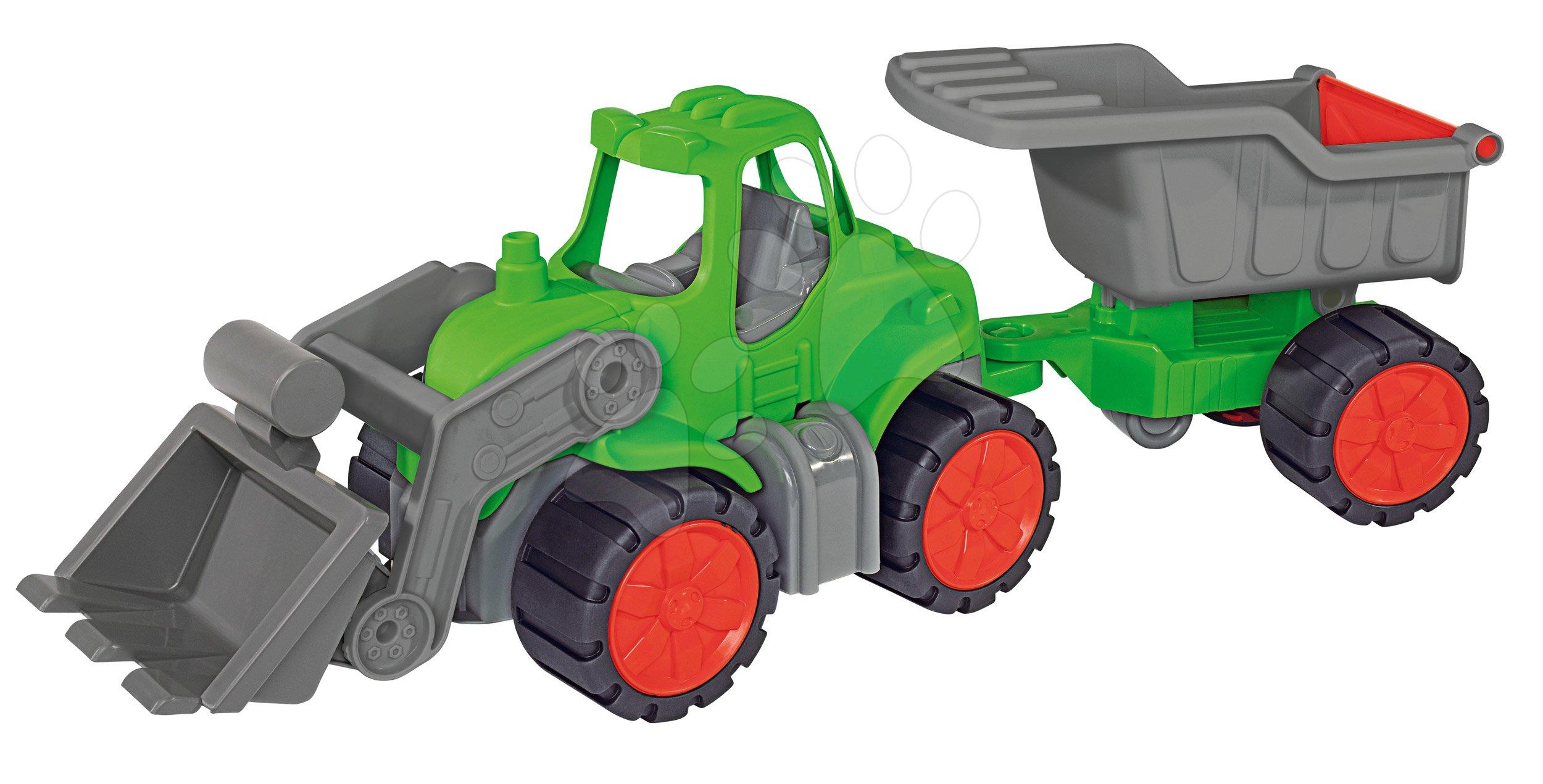 Traktor Power BIG z nakladalnikom in prikolico dolžina 66 cm zelen od 24 mes