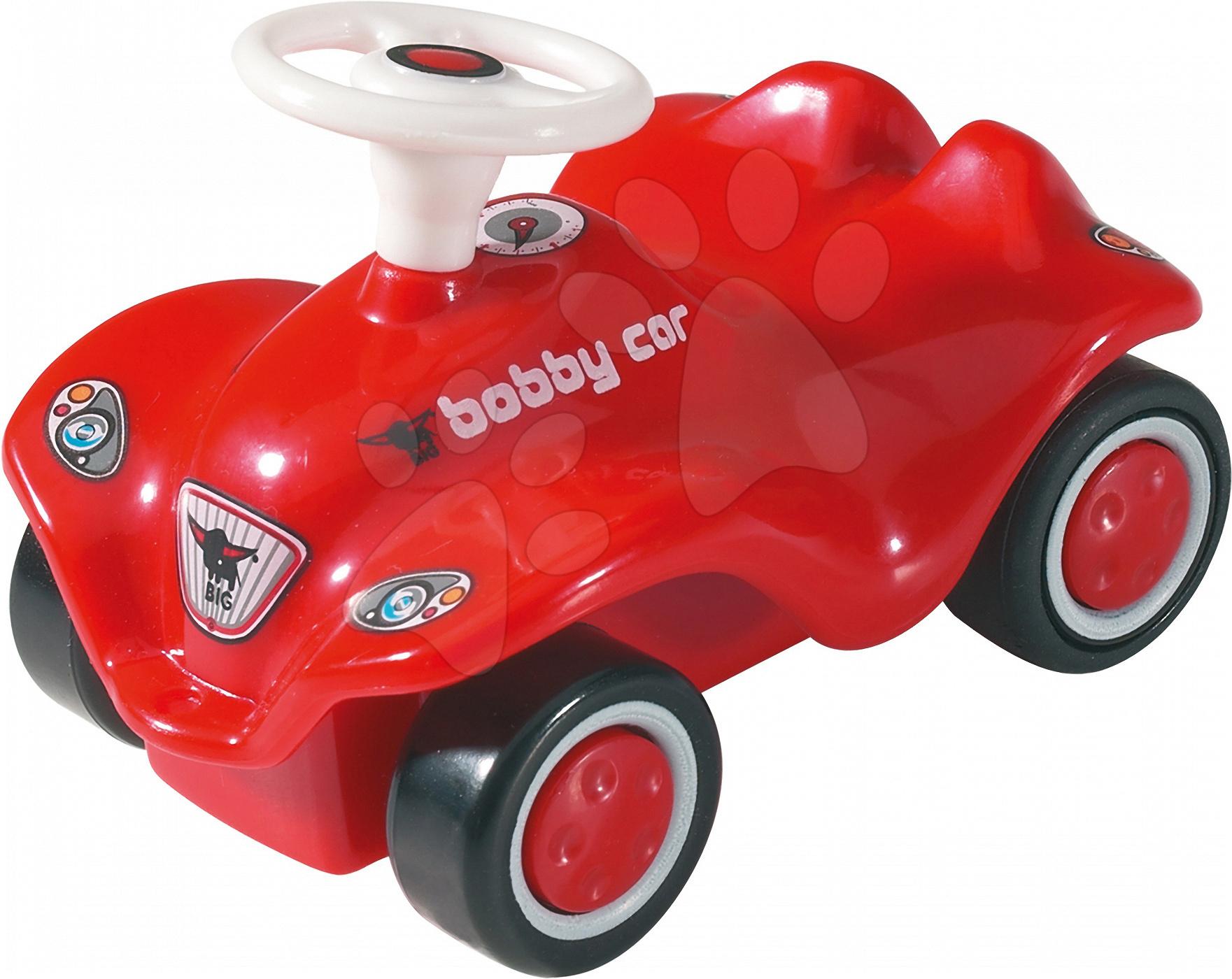 Autíčka - Autíčko New Mini Bobby BIG na naťahovanie dĺžka 8 cm červené od 12 mes