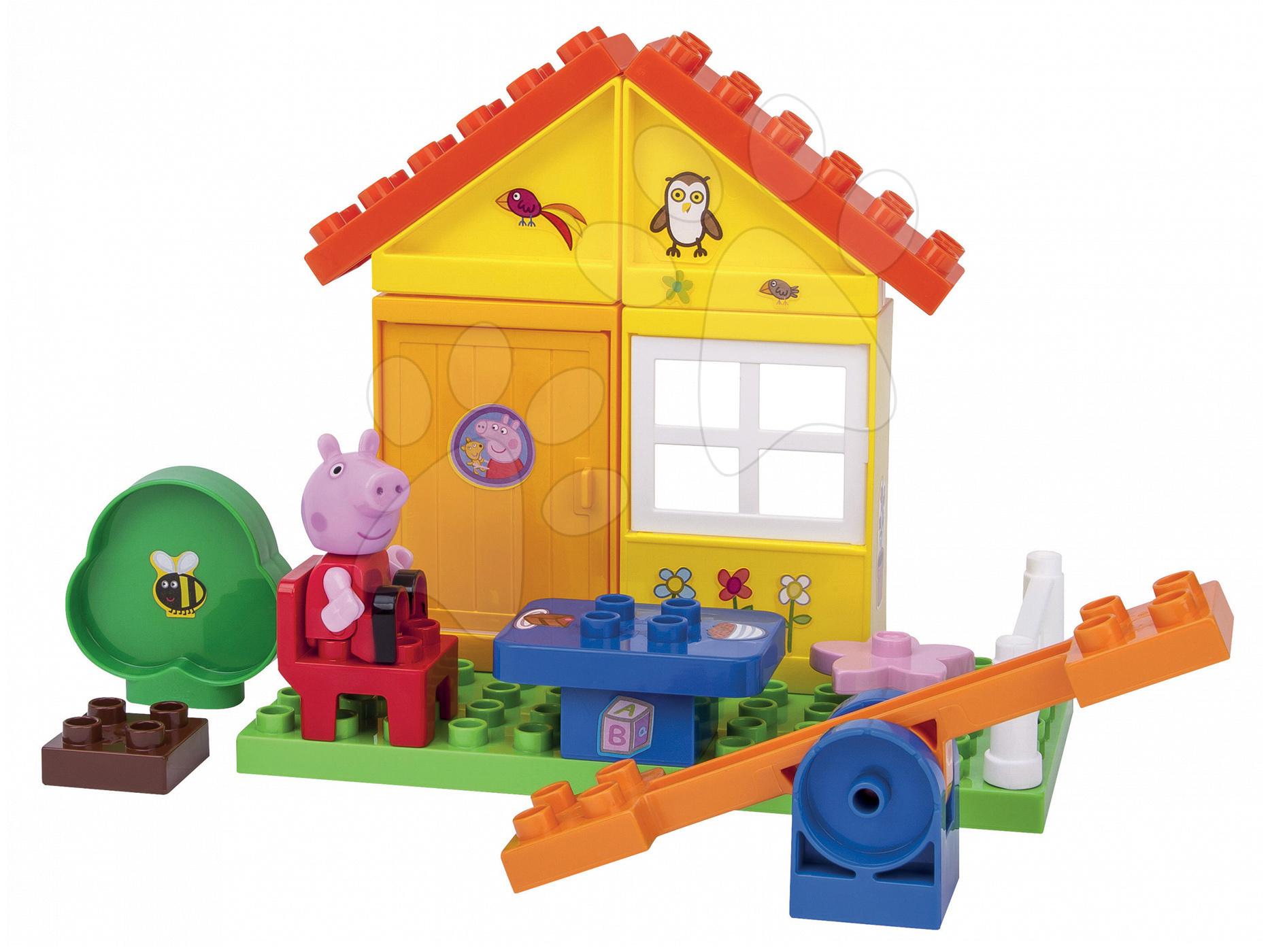 Stavebnice Peppa Pig v zahradě PlayBIG Bloxx BIG s 1 figurkou 29 dílů od 1,5-5 let