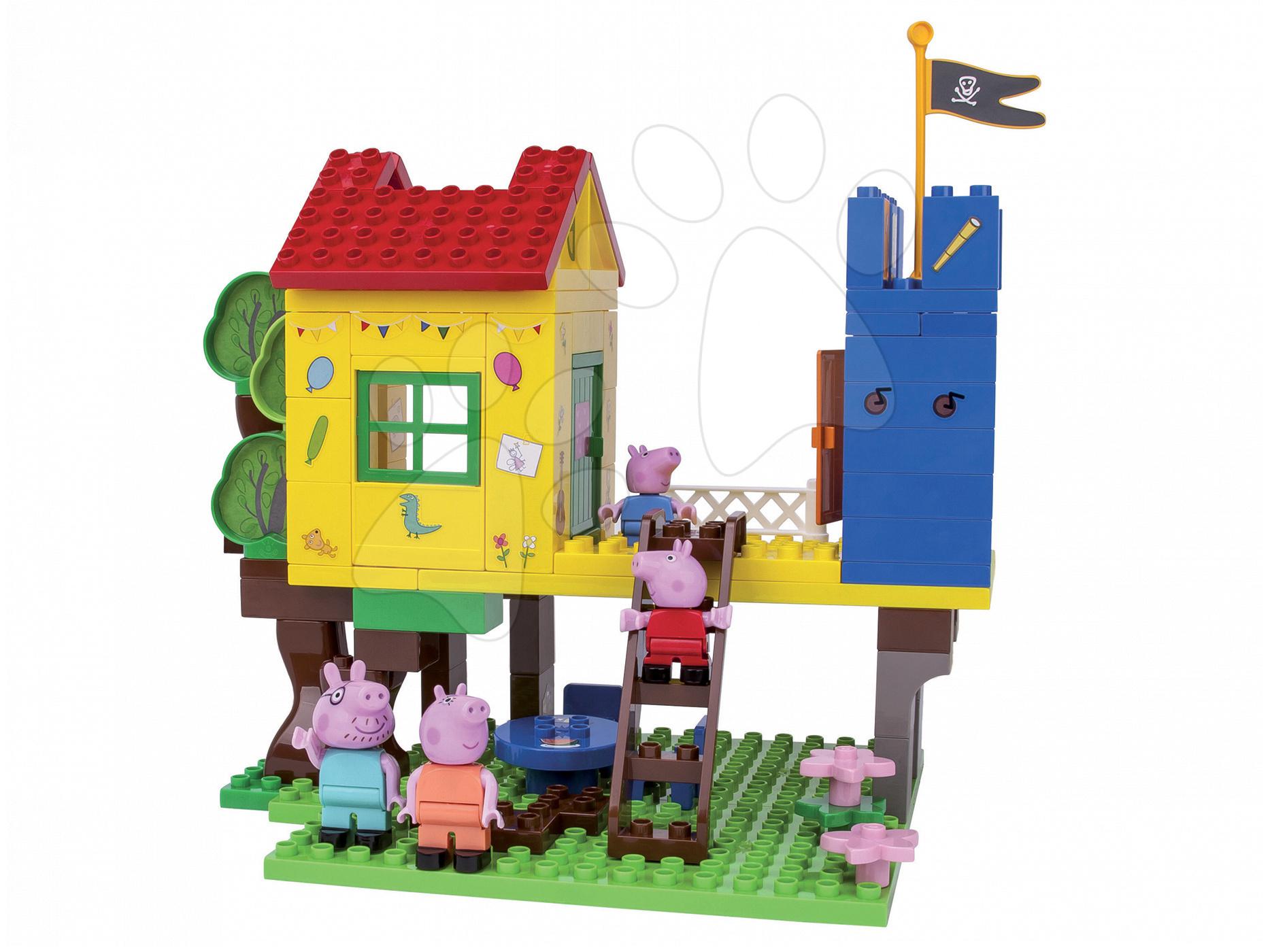 Stavebnice BIG-Bloxx ako lego - Stavebnica Peppa Pig v domčeku na strome PlayBIG Bloxx BIG so 4 figúrkami 94 dielov od 1,5-5 rokov