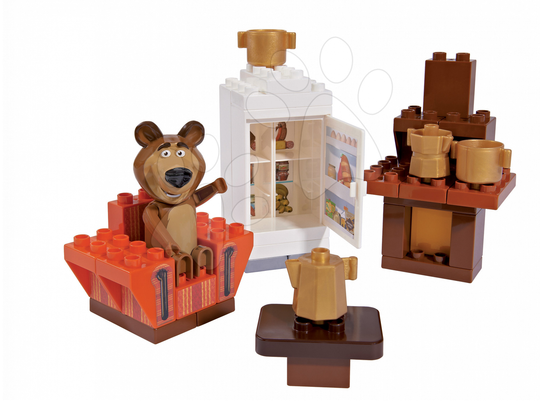 Stavebnice BIG-Bloxx ako lego - Stavebnica Máša a medveď v izbe PlayBIG Bloxx BIG s 1 figúrkou 35 dielov od 1,5-5 rokov