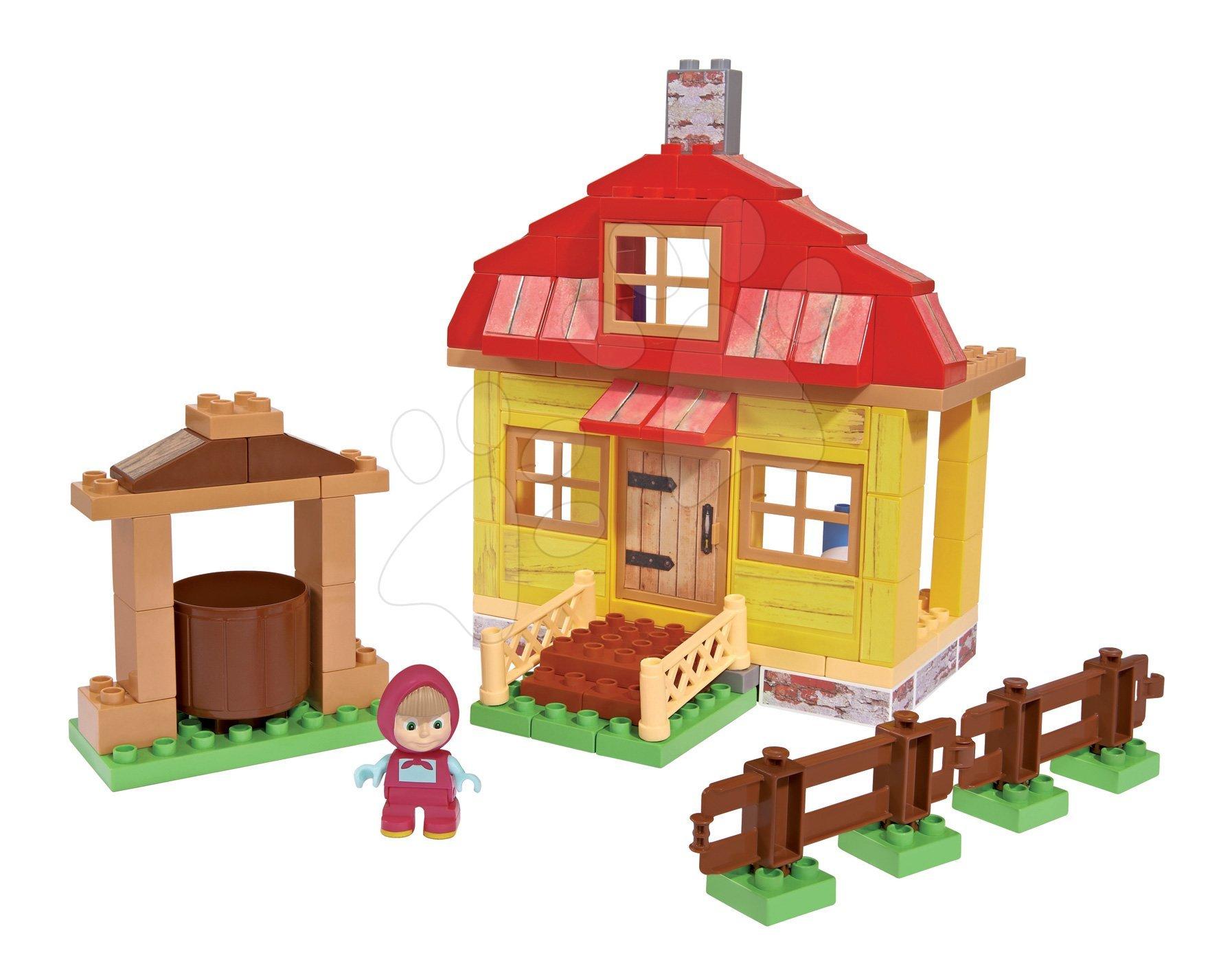 Stavebnica Máša a medveď v domčeku PlayBIG Bloxx BIG s 1 figúrkou 95 dielov od 1,5-5 rokov