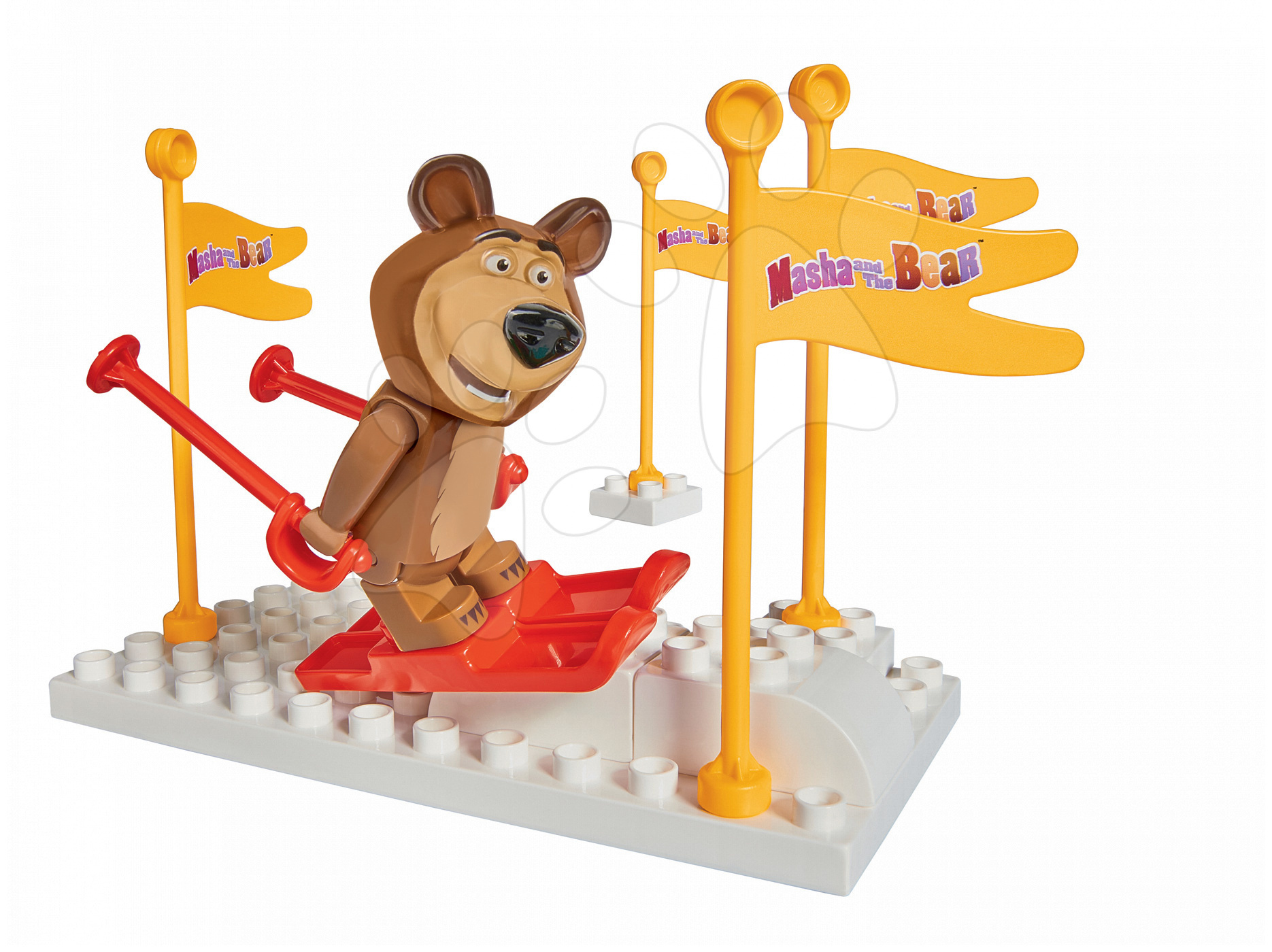 Stavebnice Máša a medvěd Na lyžích PlayBIG Bloxx BIG 9-14 kusů od 18 měsíců