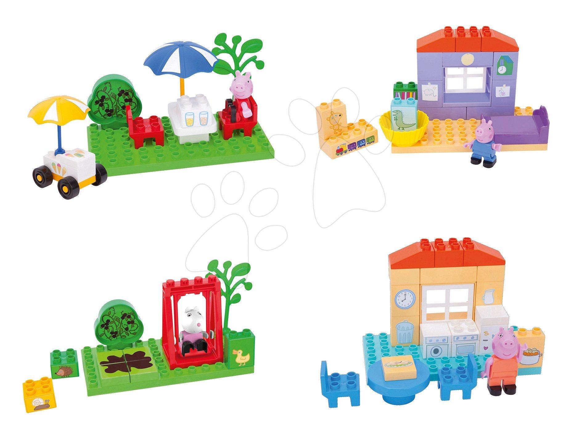 Szett építőjáték Peppa Pig PlayBIG BLOXX 4 fajta figurákkal 1,5-5 éves korosztálynak
