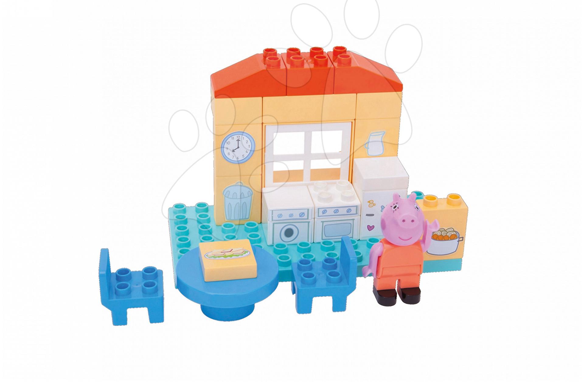 Stavebnica Peppa Pig v kuchyni PlayBIG Bloxx BIG 26 dielov a 1 figúrka od 1,5-5 rokov