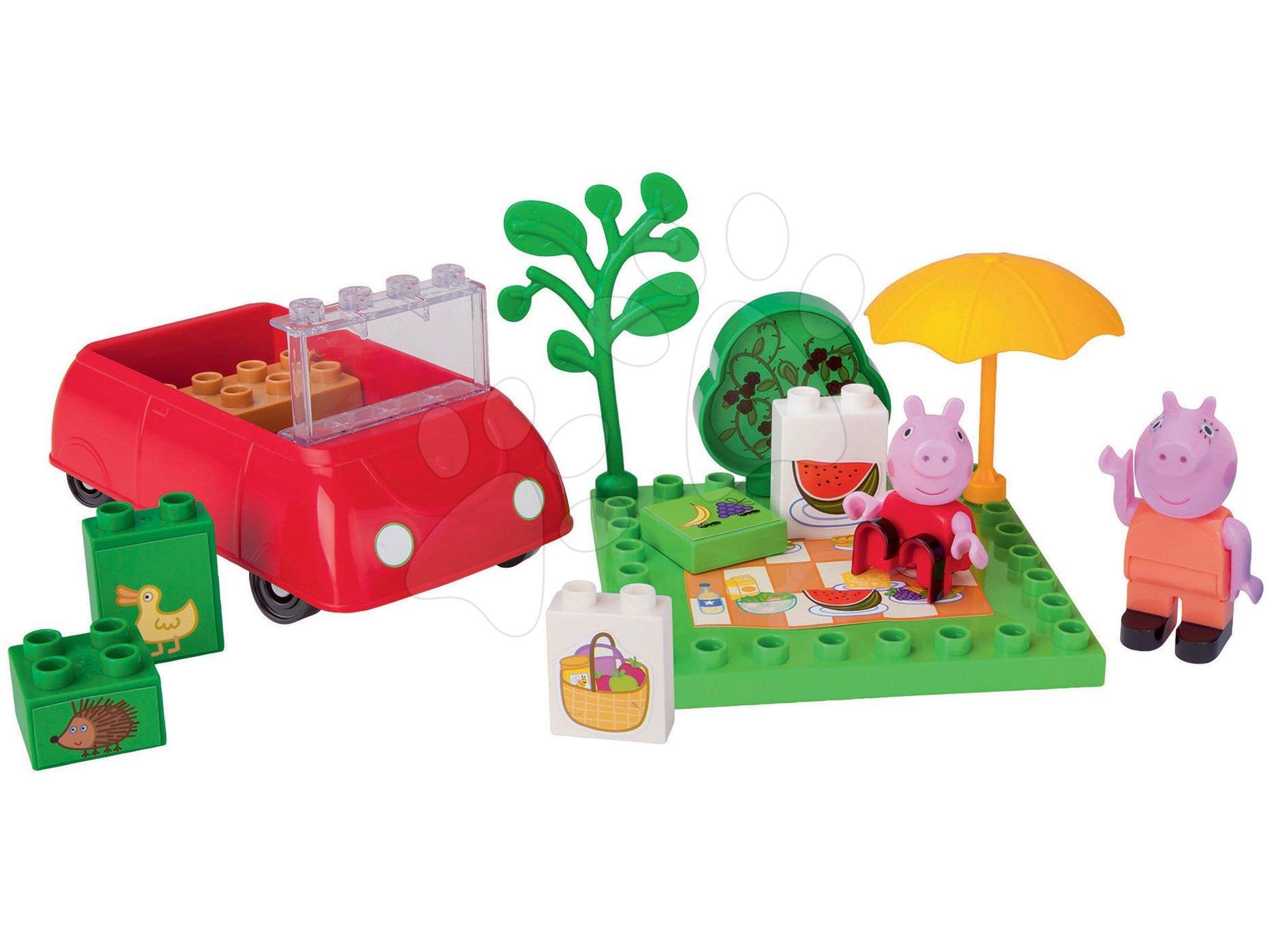 Stavebnica Peppa Pig Piknik PlayBIG Bloxx BIG 18 dielov a 2 figúrky od 1,5-5 rokov