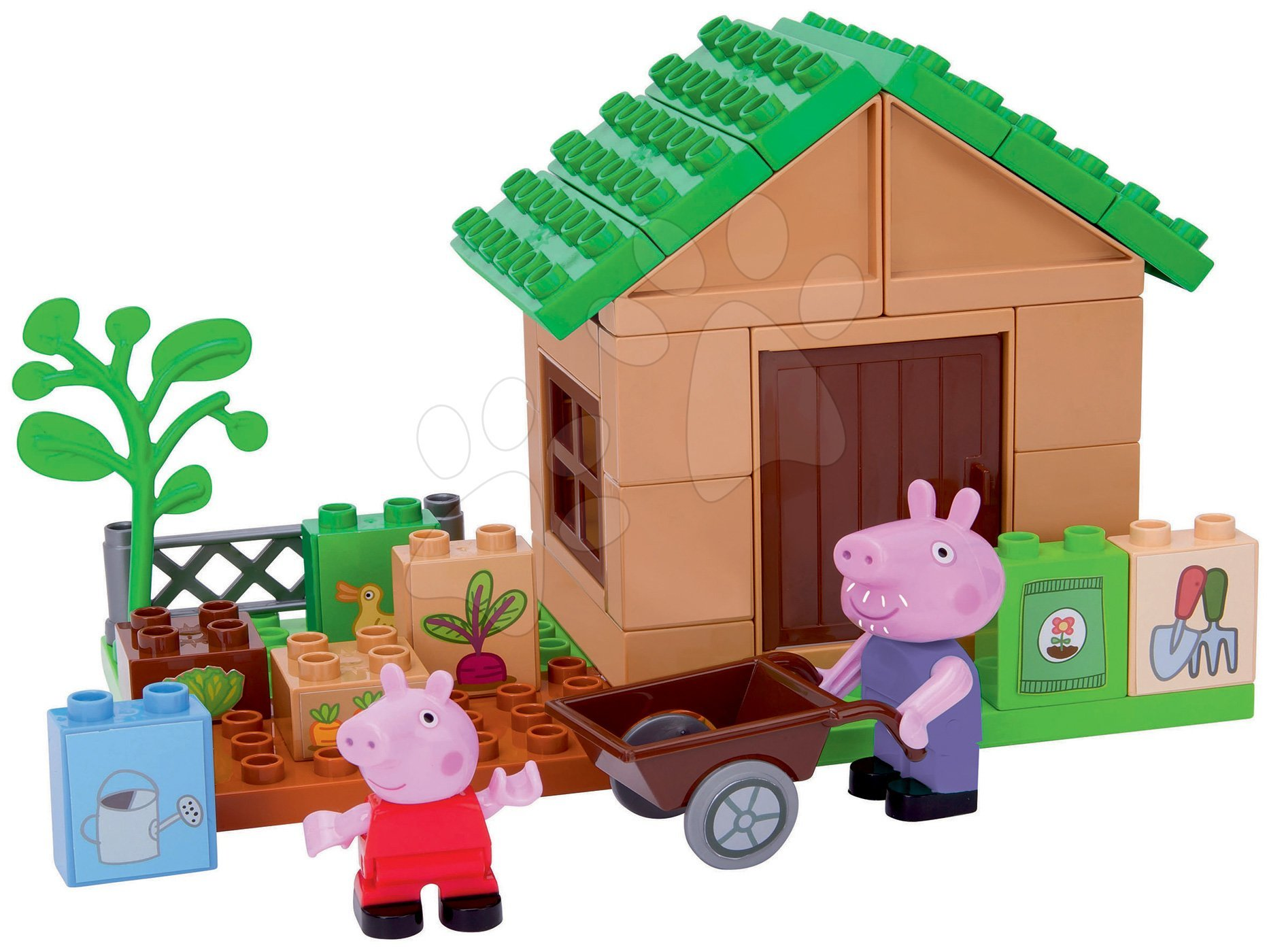 Stavebnice Peppa Pig na zahradě PlayBIG Bloxx BIG 41 dílů a 2 figurky od 1,5-5 let