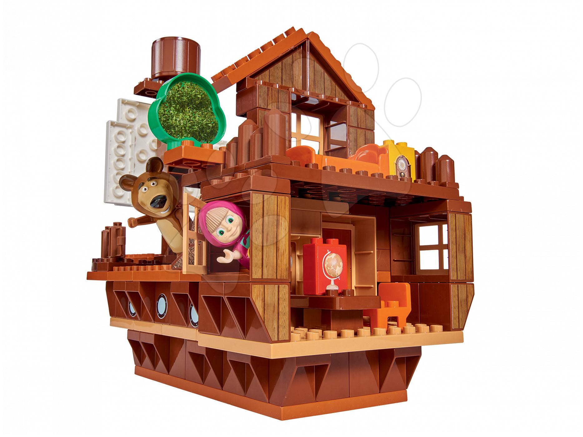 Stavebnica Máša a medveď Medvedia loď PlayBIG Bloxx BIG s 2 figúrkami a 159 dielov od 1,5-5 rokov
