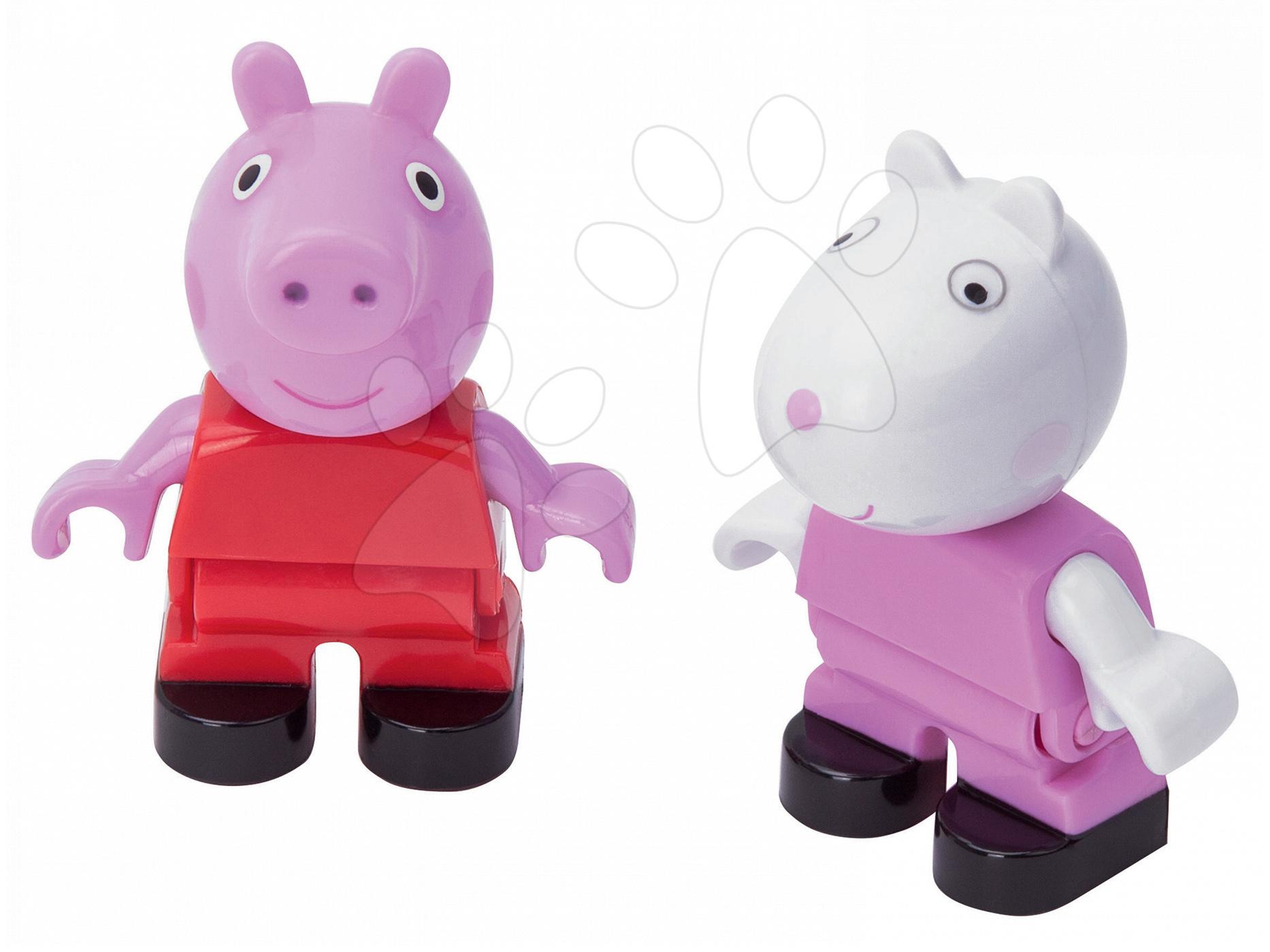 Figúrky Peppa Pig a zajačik Suzy PlayBIG Bloxx BIG 2 figúrky od 1,5-5 rokov