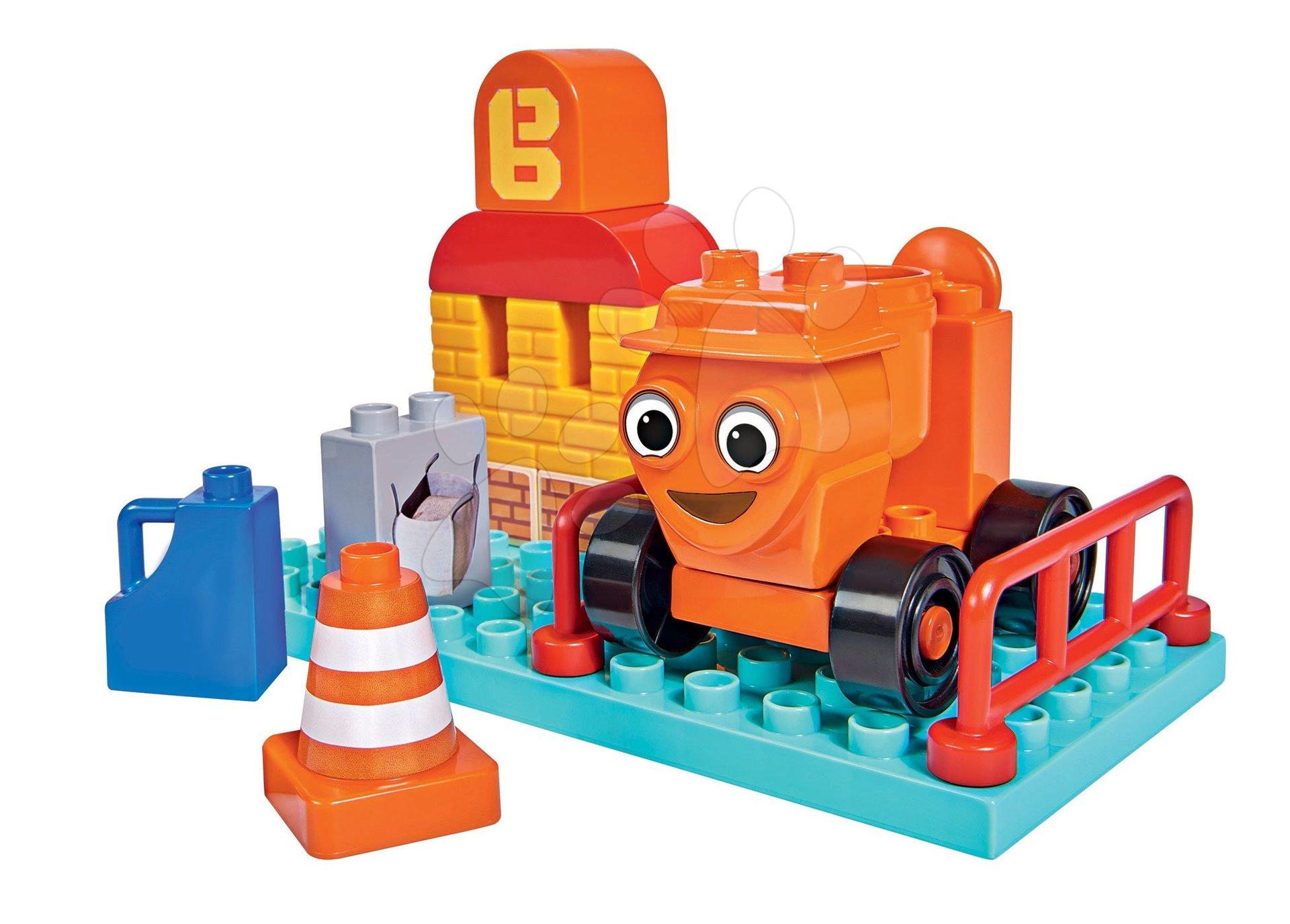 Stavebnice Bořek Stavitel PlayBIG Bloxx míchačka na staveništi BIG 16 dílů od 24 měsíců