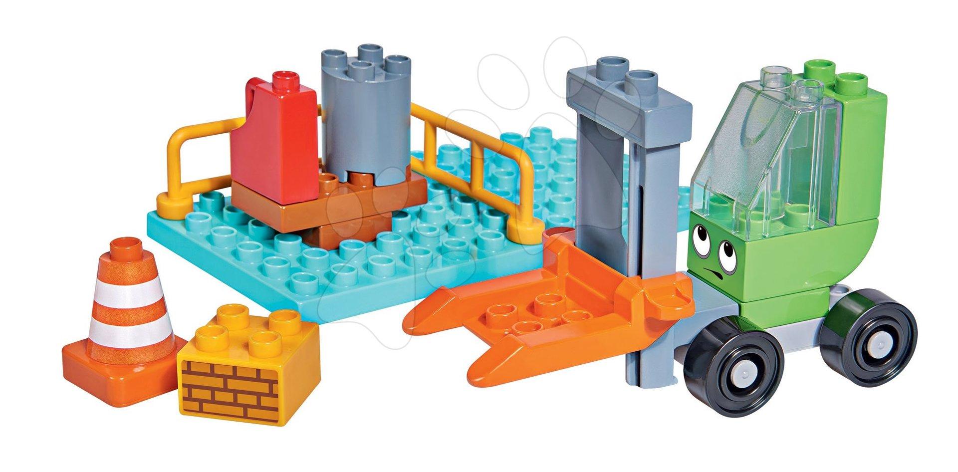 Stavebnice Bořek Stavitel PlayBIG Bloxx vysokozdvižní vozík BIG 16 dílů od 24 měsíců