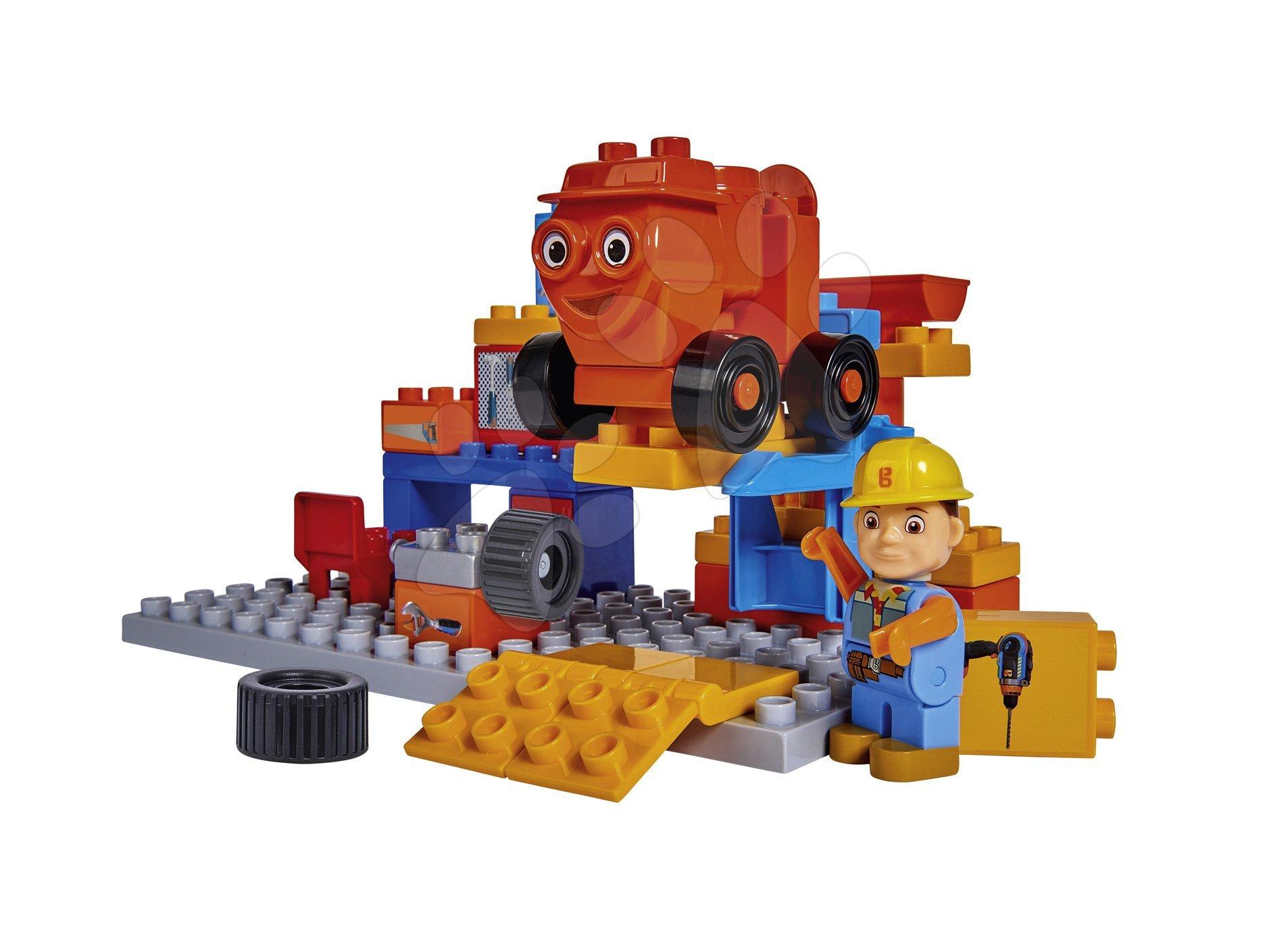 Stavebnica Kufrík s pracovným náradím v dielni Bob the Builder PlayBIG BLOXX s figúrkou a autíčkom 35 dielov od 24 mes