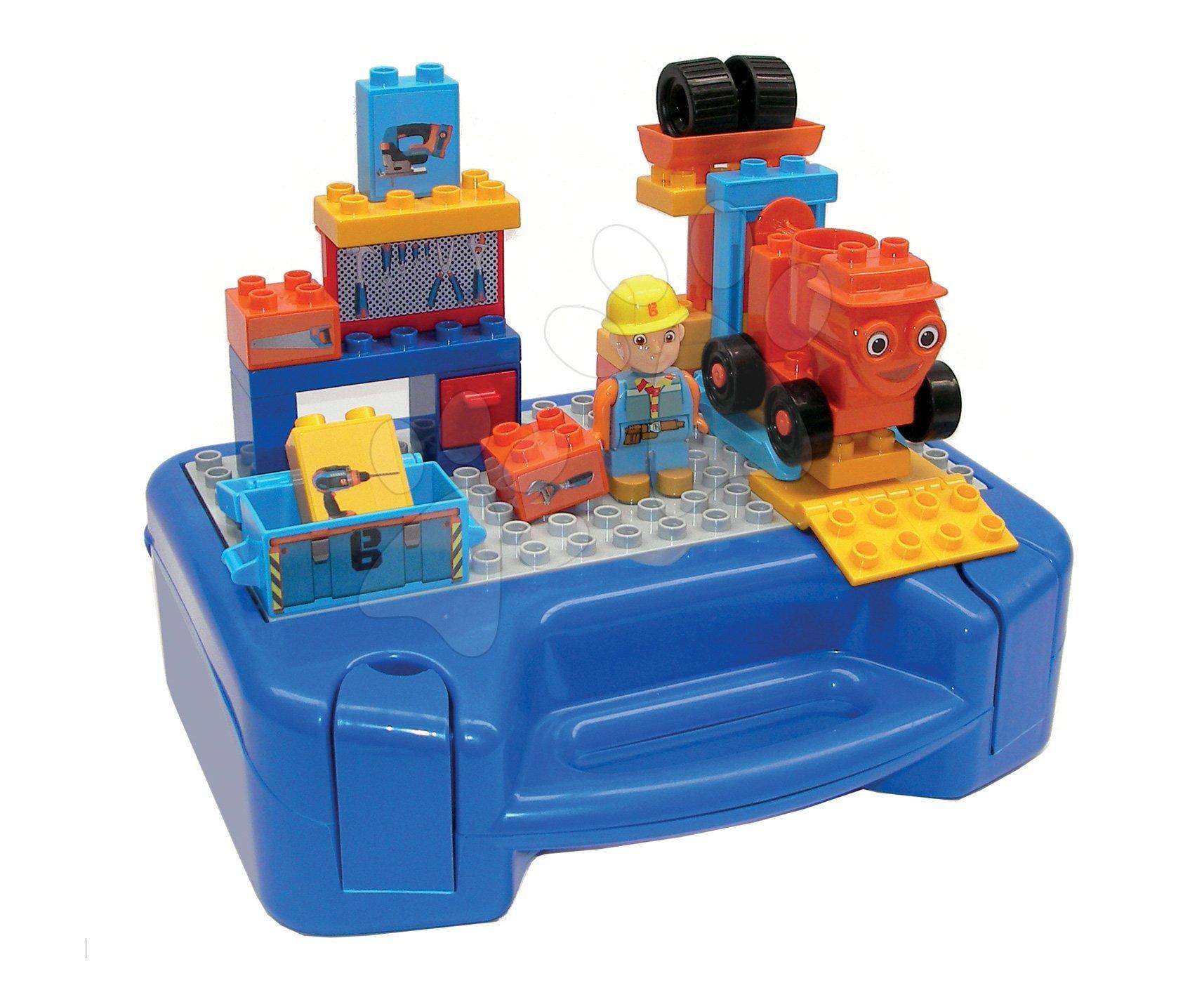 Stavebnice Kufřík s pracovním nářadím v dílně Bob the Builder PlayBIG BLOXX s figurkou a autíčkem 35 dílů od 24 měsíců