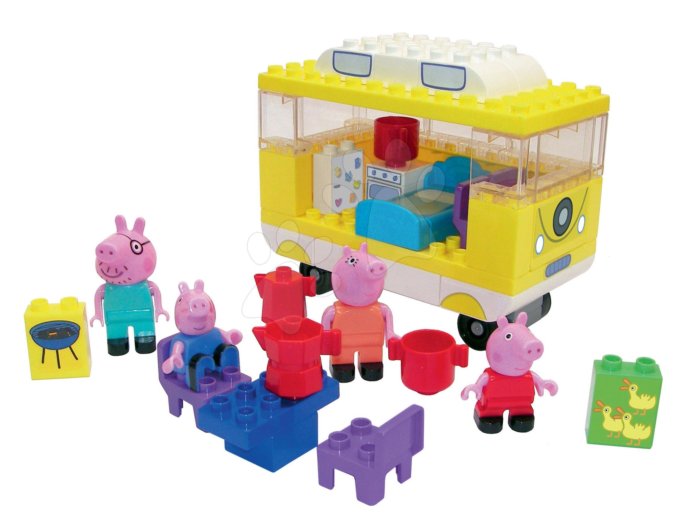 Stavebnica Peppa Pig Camper PlayBIG Bloxx BIG kempovanie s karavanom so 4 figúrkami 54 dielov od 18 mes