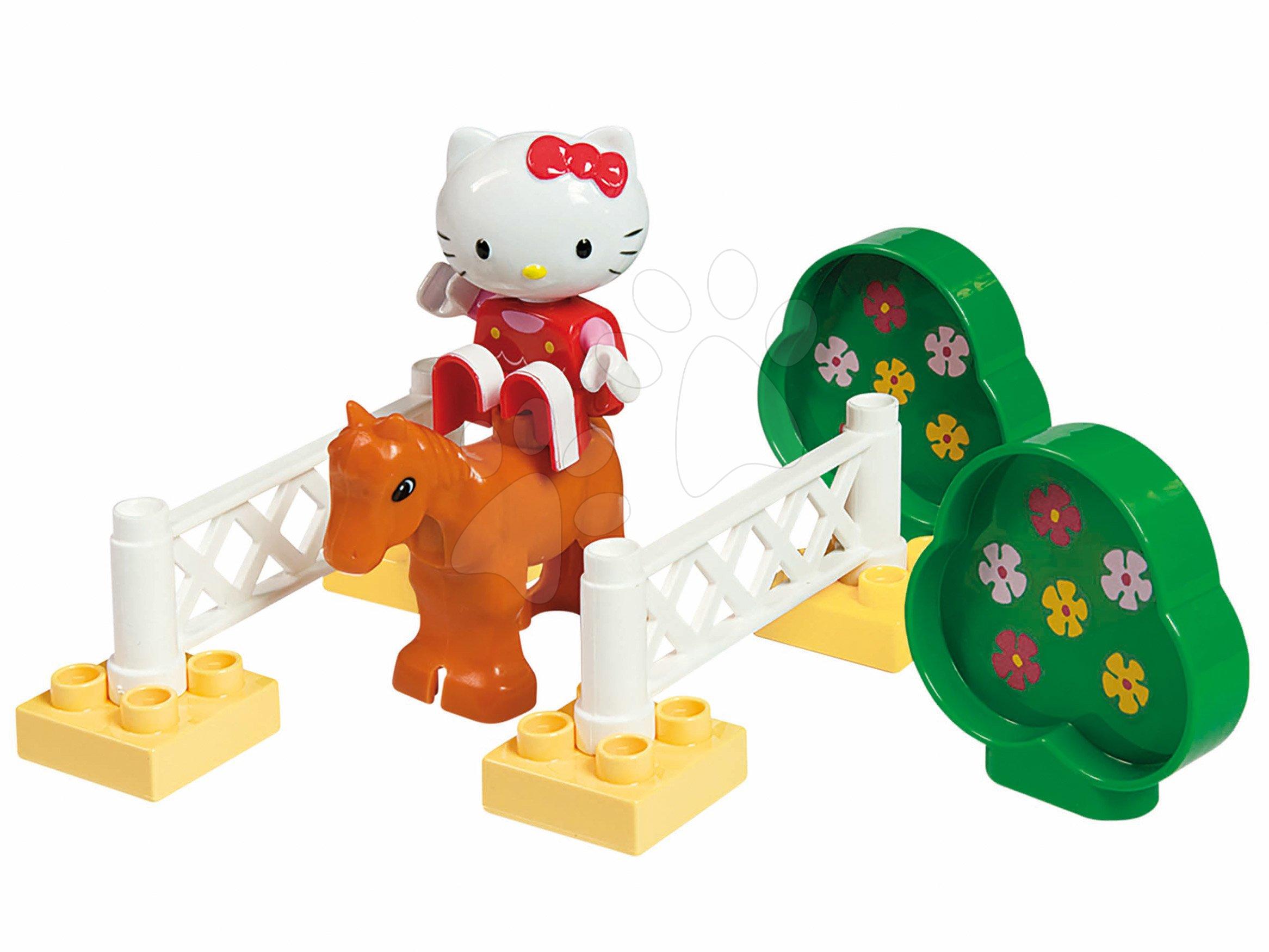 Stavebnice PlayBIG Bloxx Starter Box BIG Hello Kitty na dostizích s koníkem od 18 měsíců