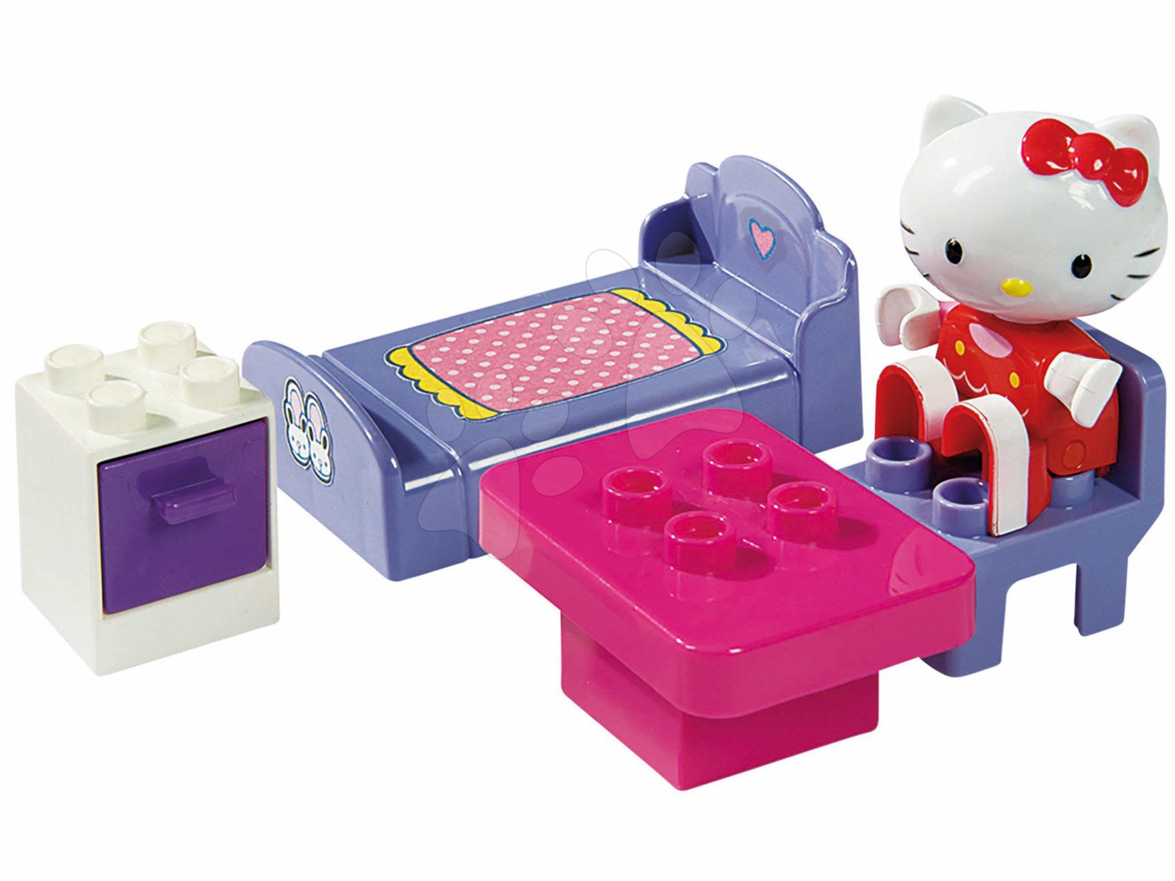 Stavebnice PlayBIG Bloxx Starter Box BIG Hello Kitty v ložnici na židli od 18 měsíců