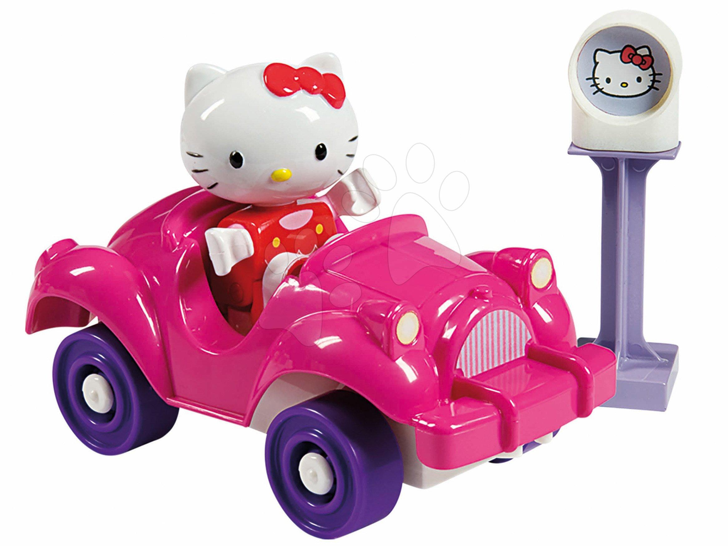 Stavebnice PlayBIG Bloxx Starter Box BIG Hello Kitty v růžovém autíčku od 18 měsíců