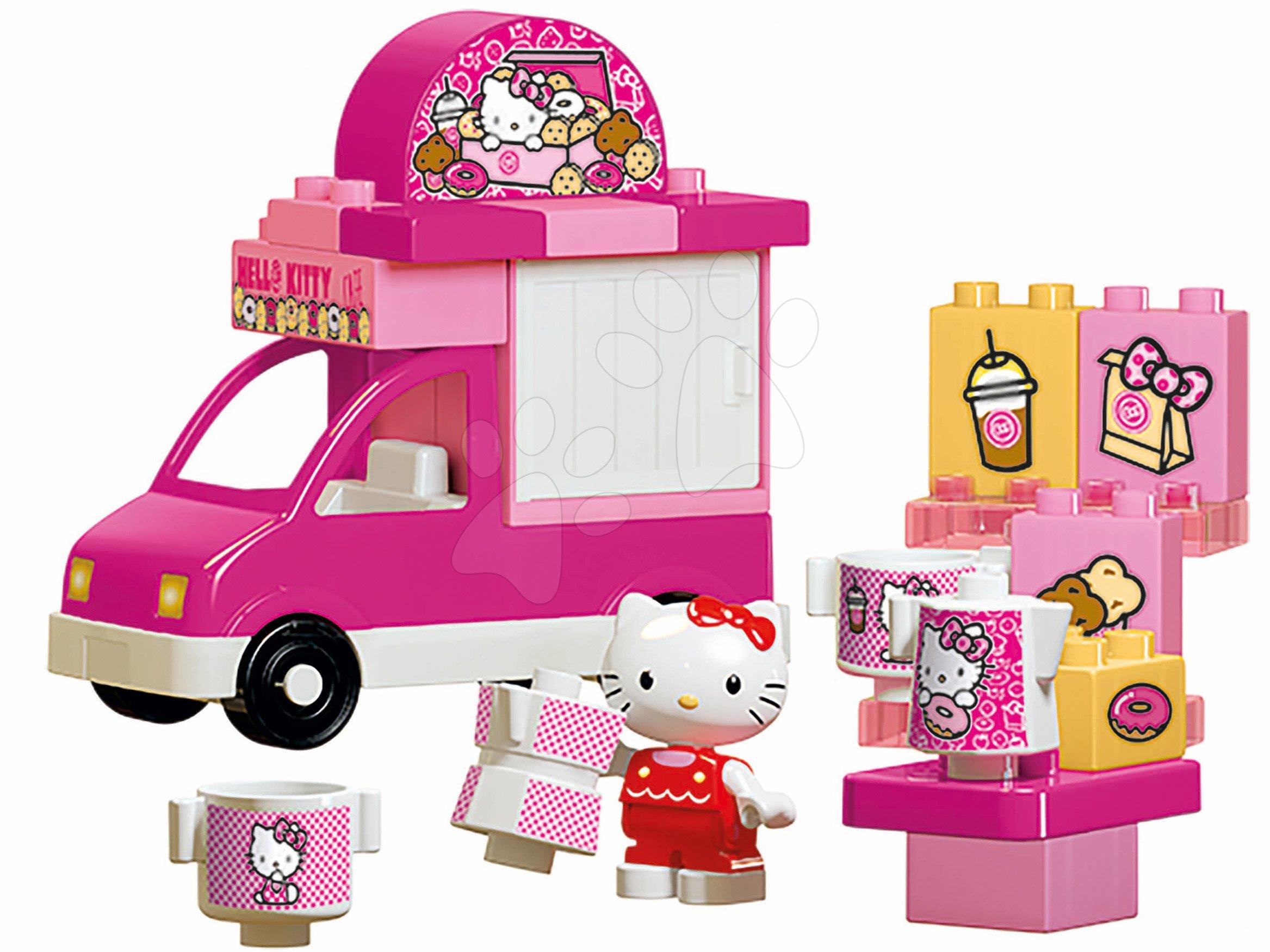 Stavebnica PlayBIG Bloxx Eiswagen BIG Hello Kitty so zmrzlinárskym autom a kornútkami 26 dielov od 18 mes