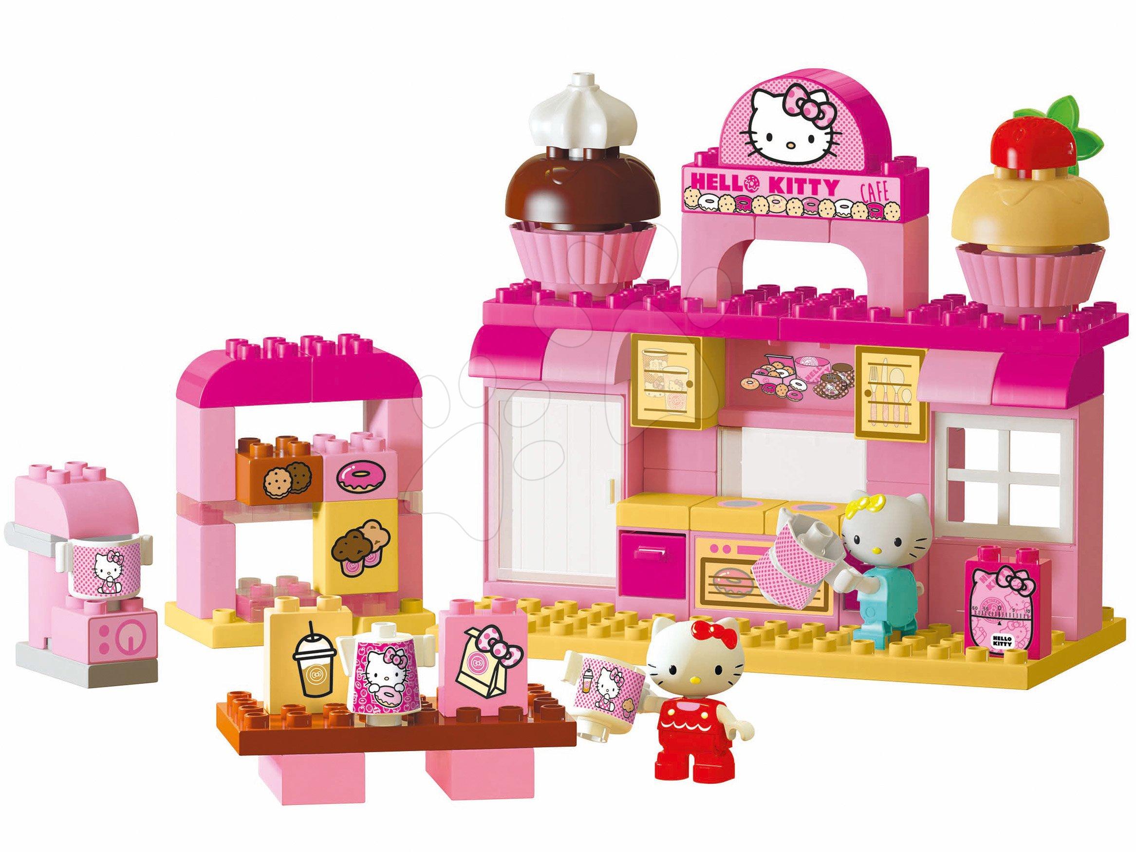 Stavebnice BIG-Bloxx ako lego - Stavebnica PlayBIG Bloxx Backerei BIG Hello Kitty v pekárni s kamarátkou 82 dielov a 2 figúrky od 18 mes