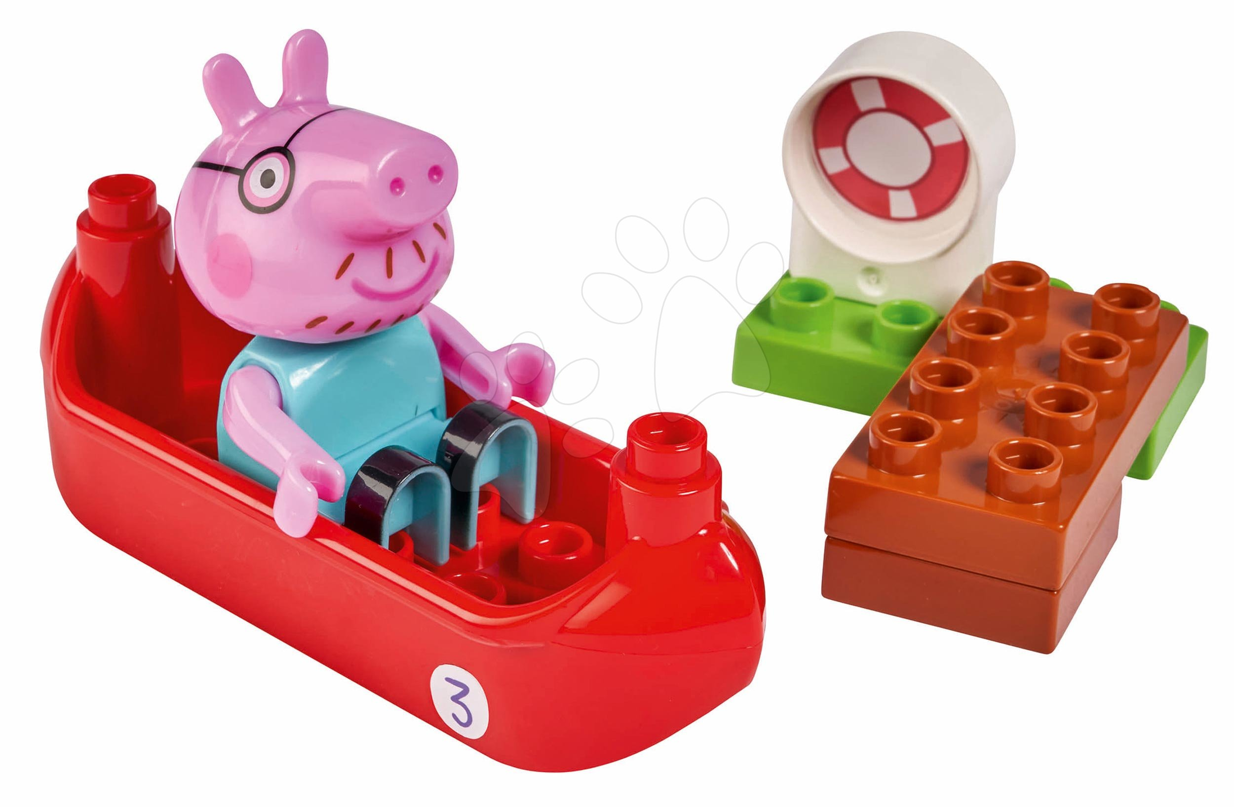 Stavebnica Peppa Pig Starter Sets PlayBIG Bloxx s figúrkou v člne od 18 mes