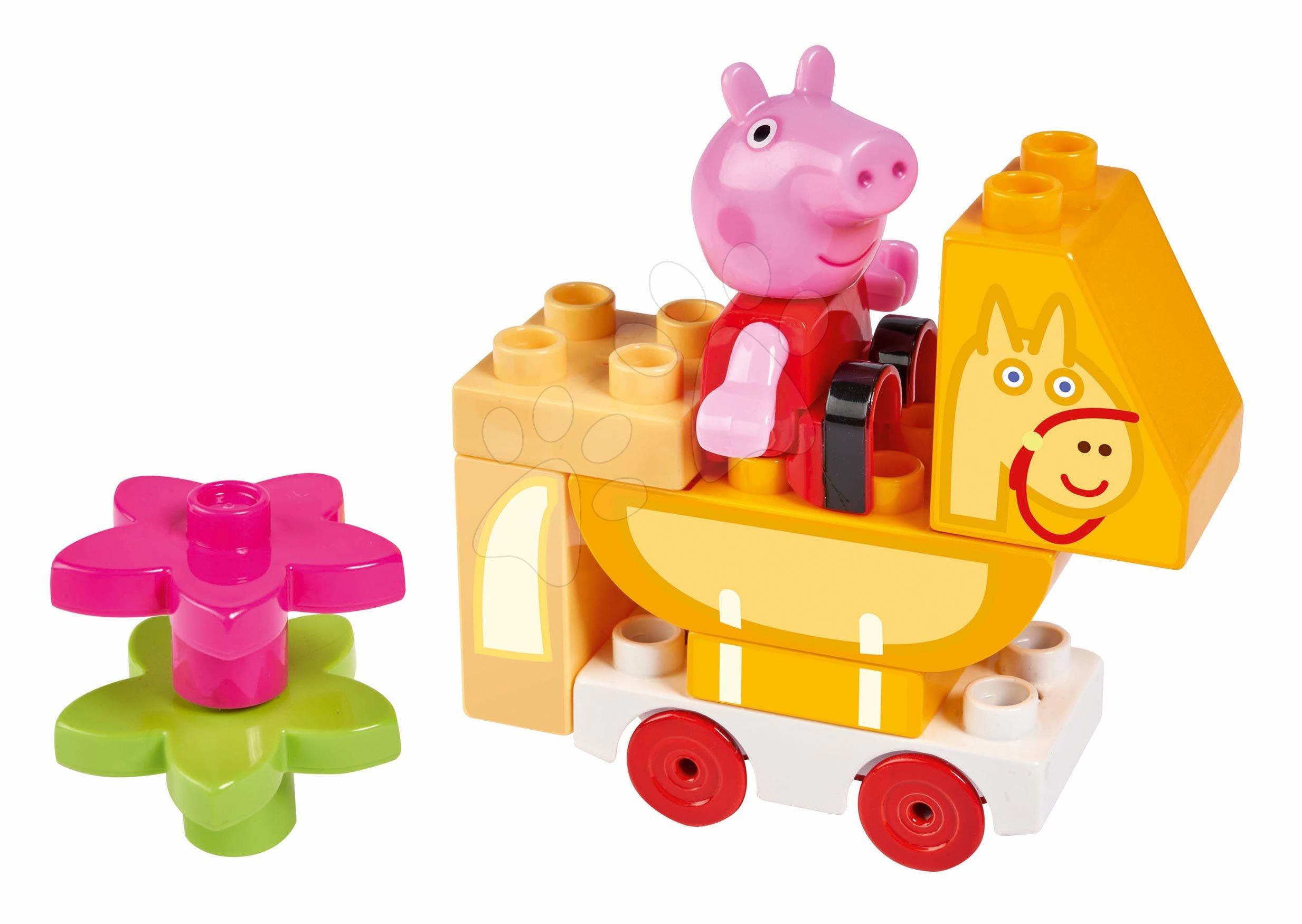 Stavebnica Peppa Pig Starter Sets PlayBIG Bloxx s figúrkou na koni od 18 mes