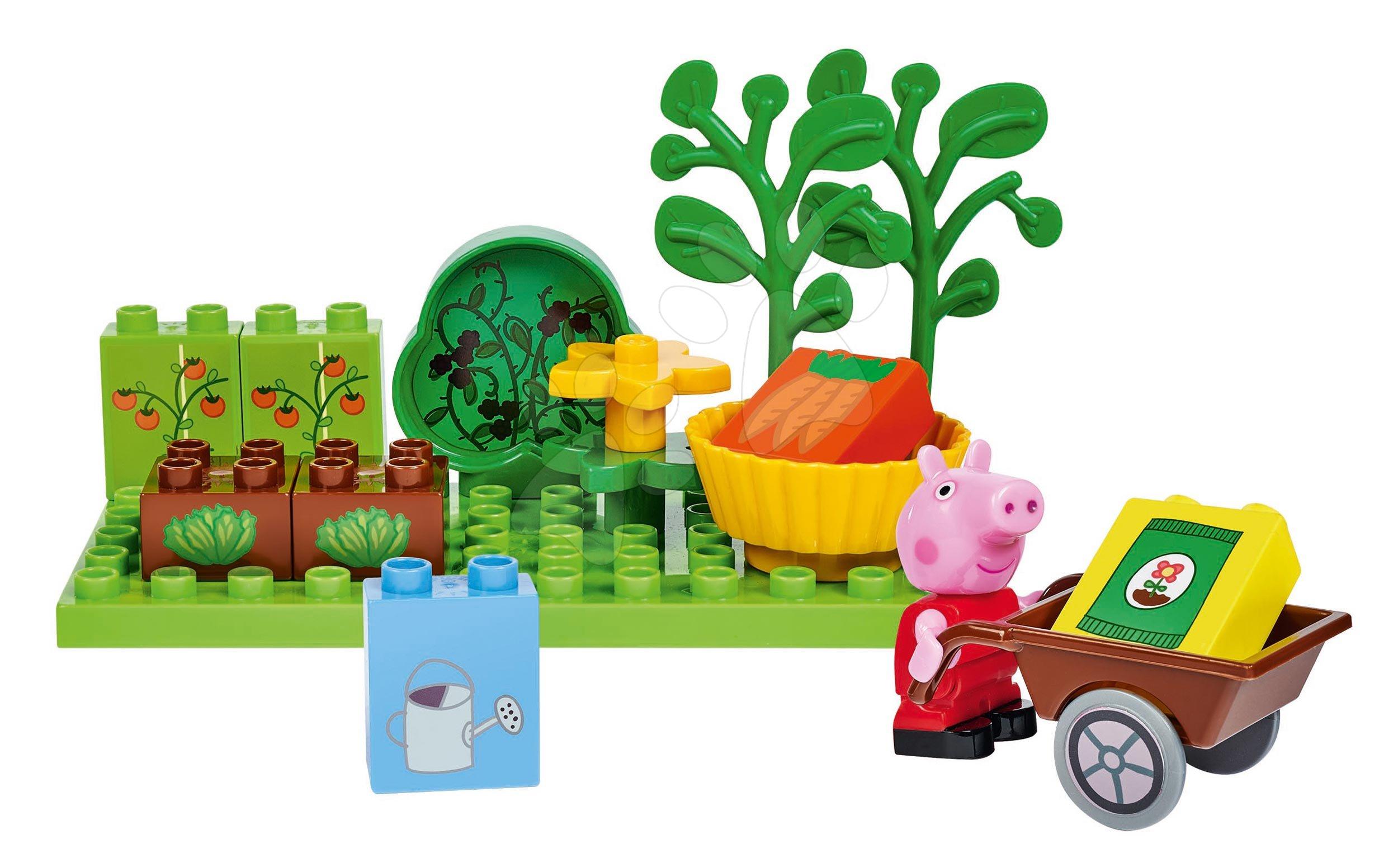 Stavebnice Peppa Pig Basic Sets II. PlayBIG Bloxx s figurkou na zahradě od 18 měsíců
