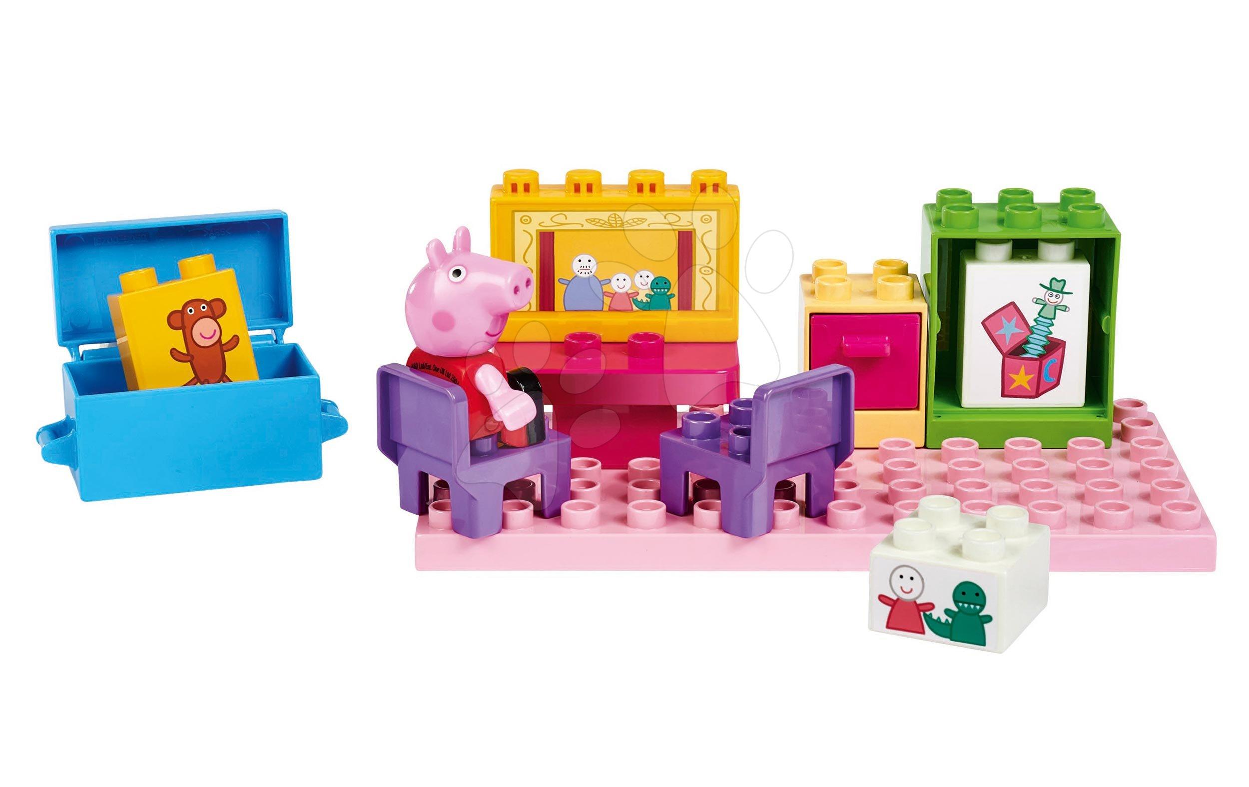 Stavebnica Peppa Pig Basic Sets II. PlayBIG Bloxx s figúrkou v izbe od 18 mes