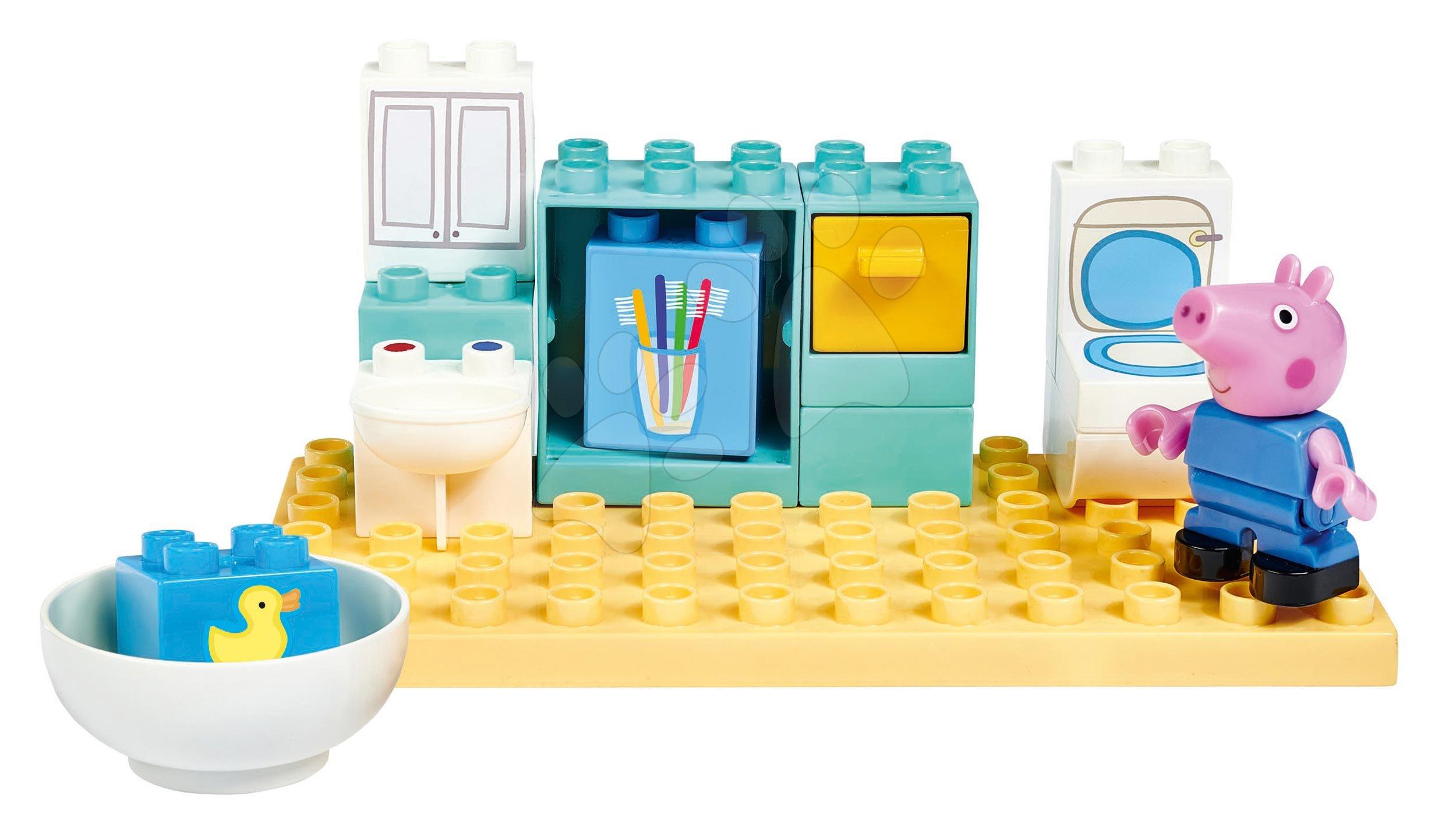 Stavebnica Peppa Pig Basic Sets II. PlayBIG Bloxx s figúrkou v kúpeľni od 18 mes