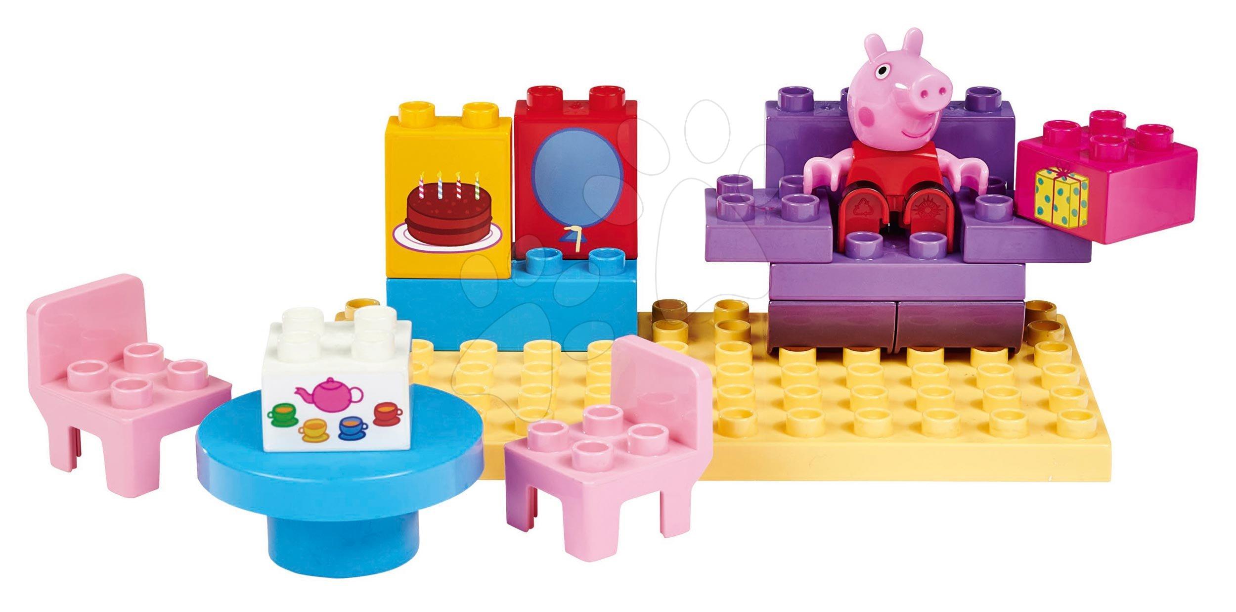 Stavebnica Peppa Pig Basic Sets II. PlayBIG Bloxx s figúrkou v kuchyni od 18 mes