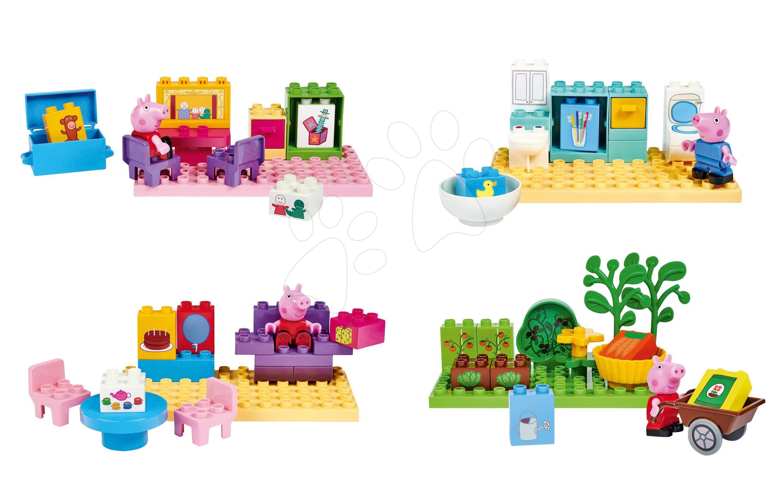 Stavebnica Peppa Pig Basic Sets II. PlayBIG Bloxx s figúrkou - sada 4 druhov od 18 mes