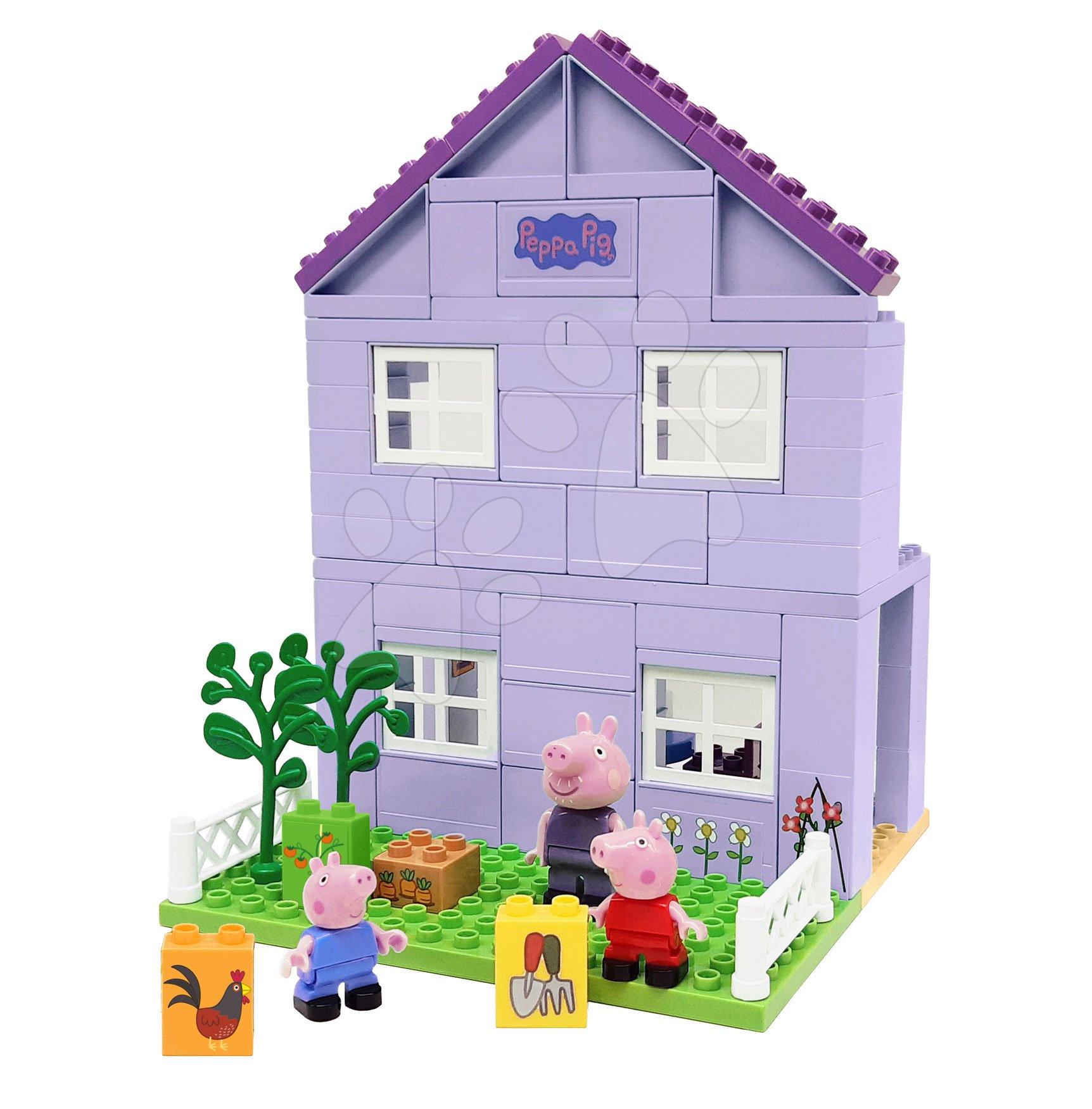 Stavebnica Peppa Pig Grandparents House PlayBIG Bloxx domček starých rodičov s 3 figúrkami od 18 mes