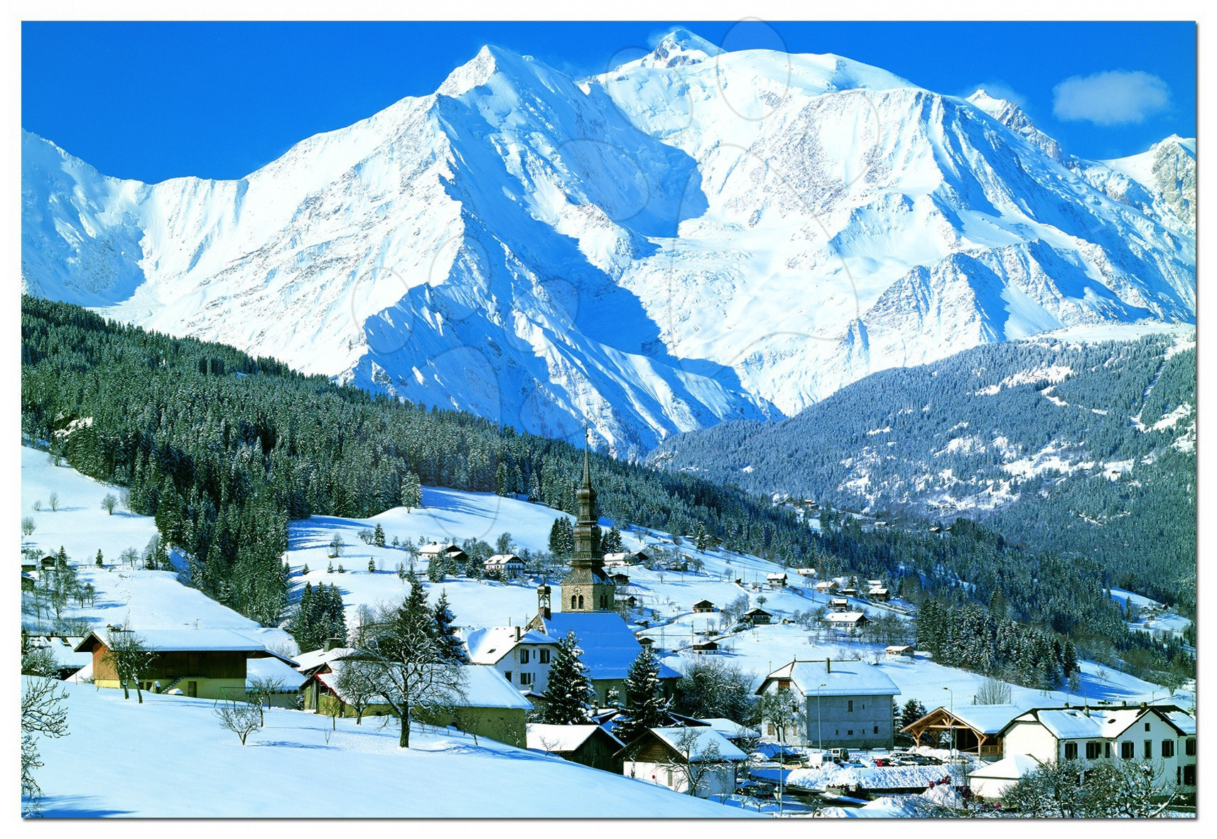 Puzzle 4000 - 8000 dielne - Puzzle Genuine Mont Blanc Educa 4000 dielov