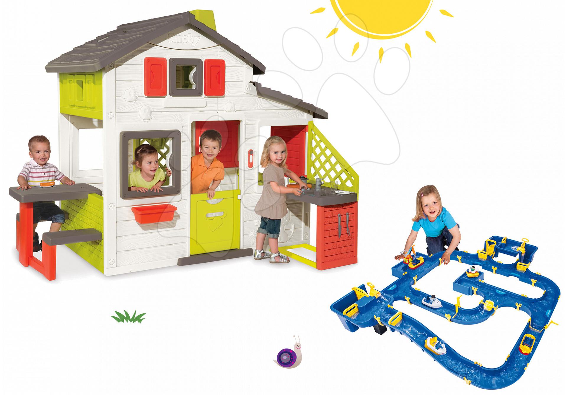 Smoby domček Priateľov a BIG vodná hra Waterplay Amsterdam 810200-14