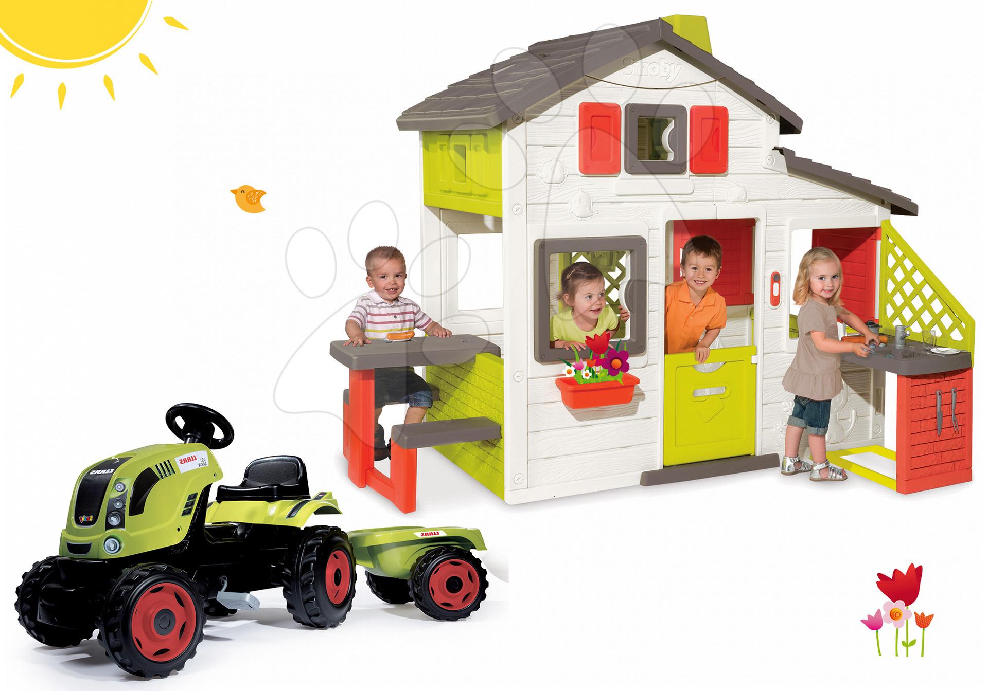 Smoby set domček Priateľov a traktor Claas GM 810200-8