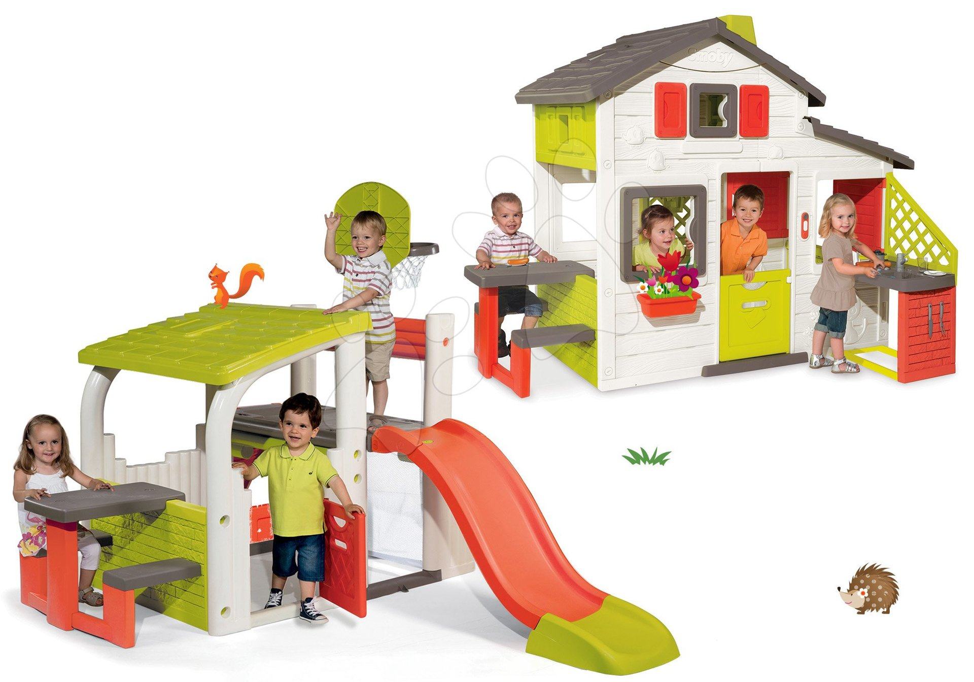 Smoby set domček Priateľov a hracie centrum Fun Center 810200-19