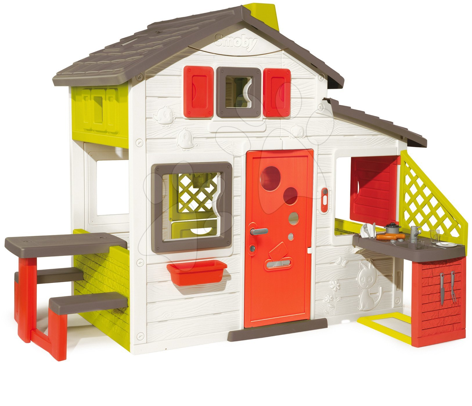 Domček Friends House Smoby s kuchyňou a plnými dverami