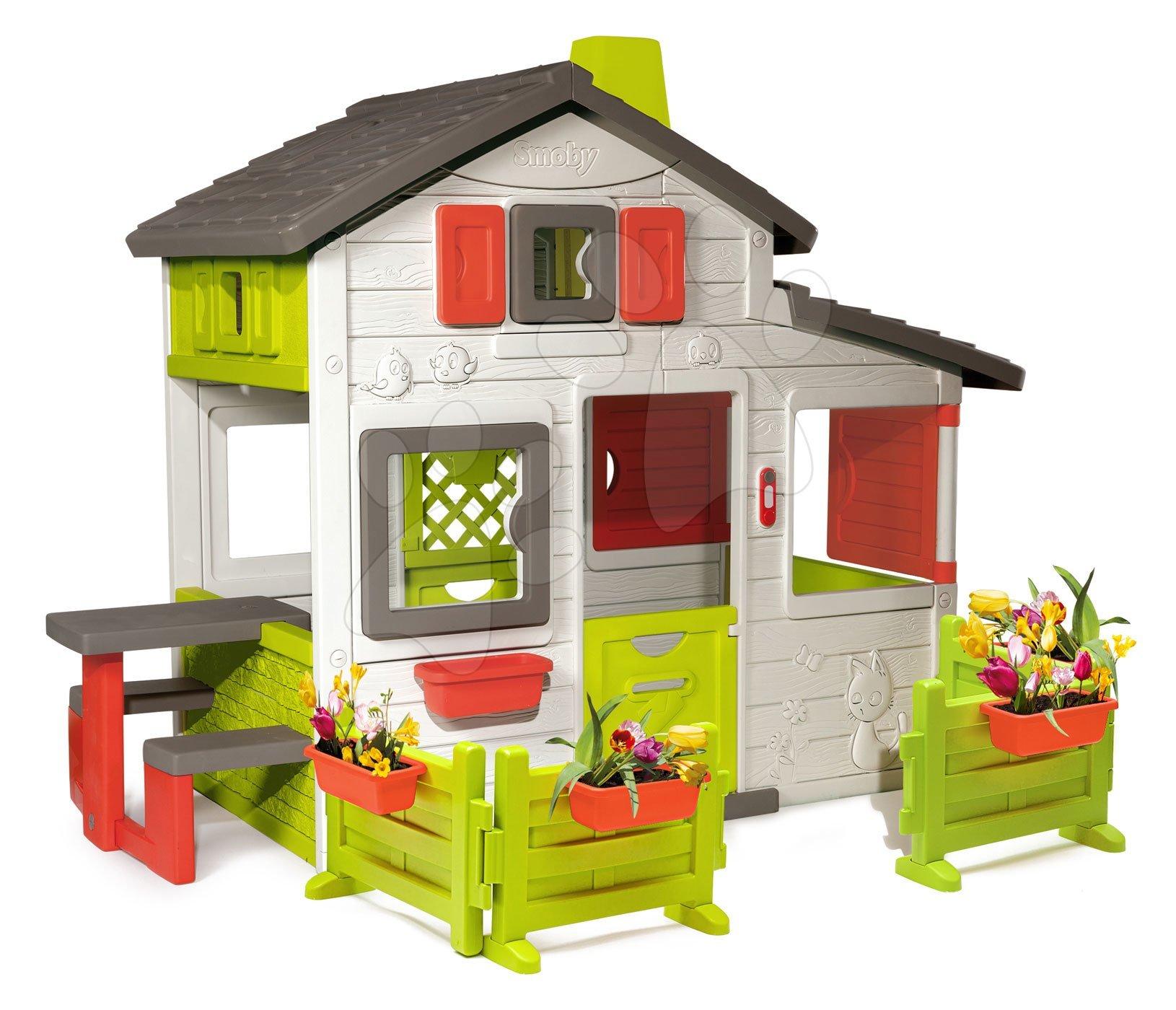 Domeček Friends House Smoby s dvěma zahrádkami