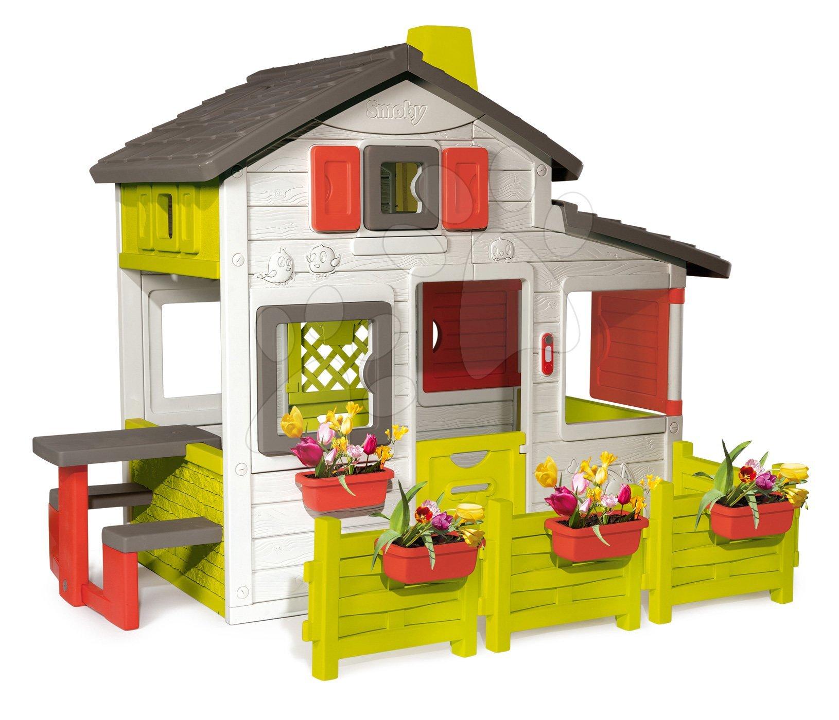 Domček Friends House Smoby s plotom